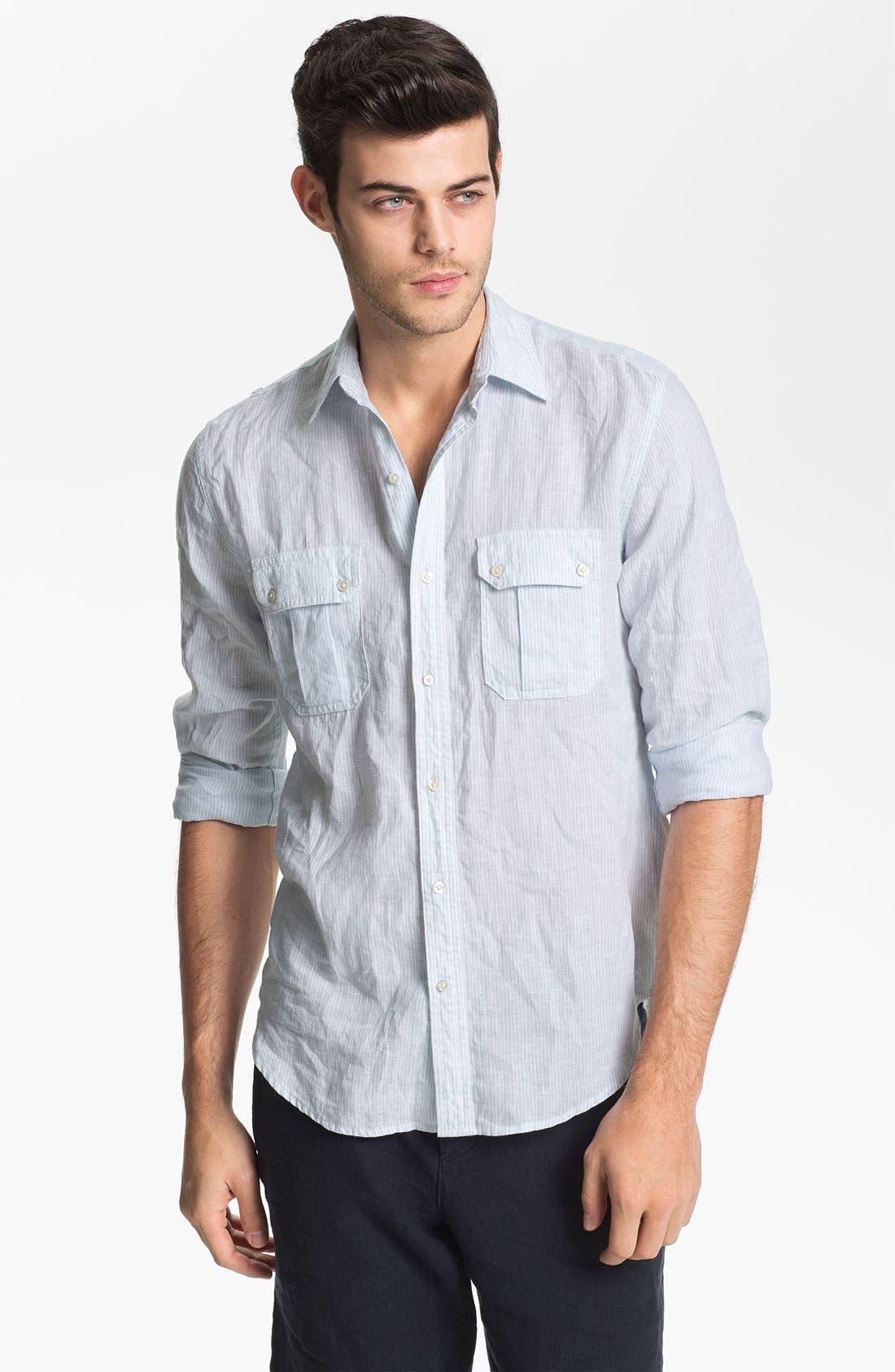 Alternate Image 1 Selected - Vince Regular Fit Linen Sport Shirt