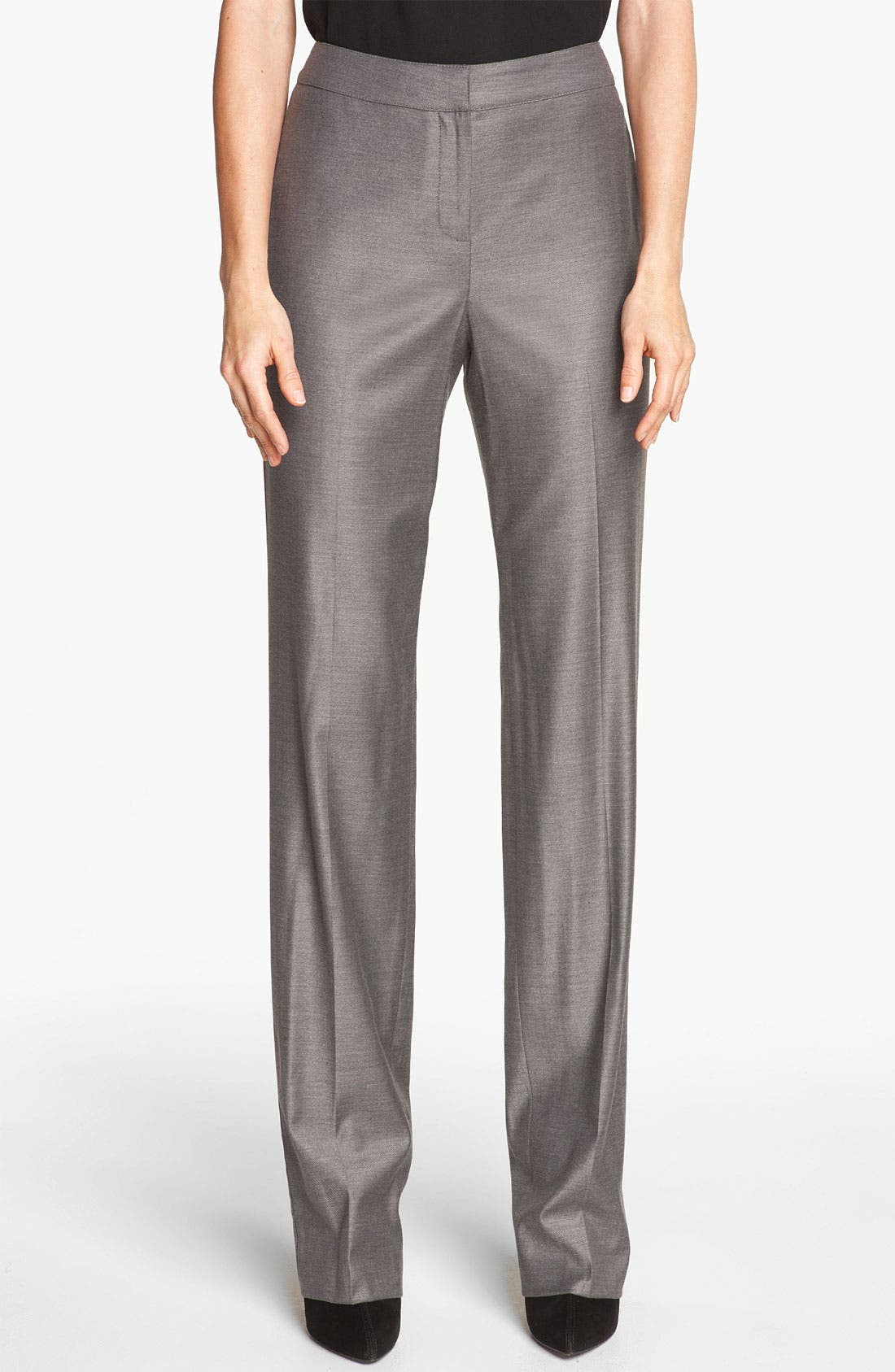 Alternate Image 1 Selected - St. John Collection 'Diana' Shimmer Twill Pants