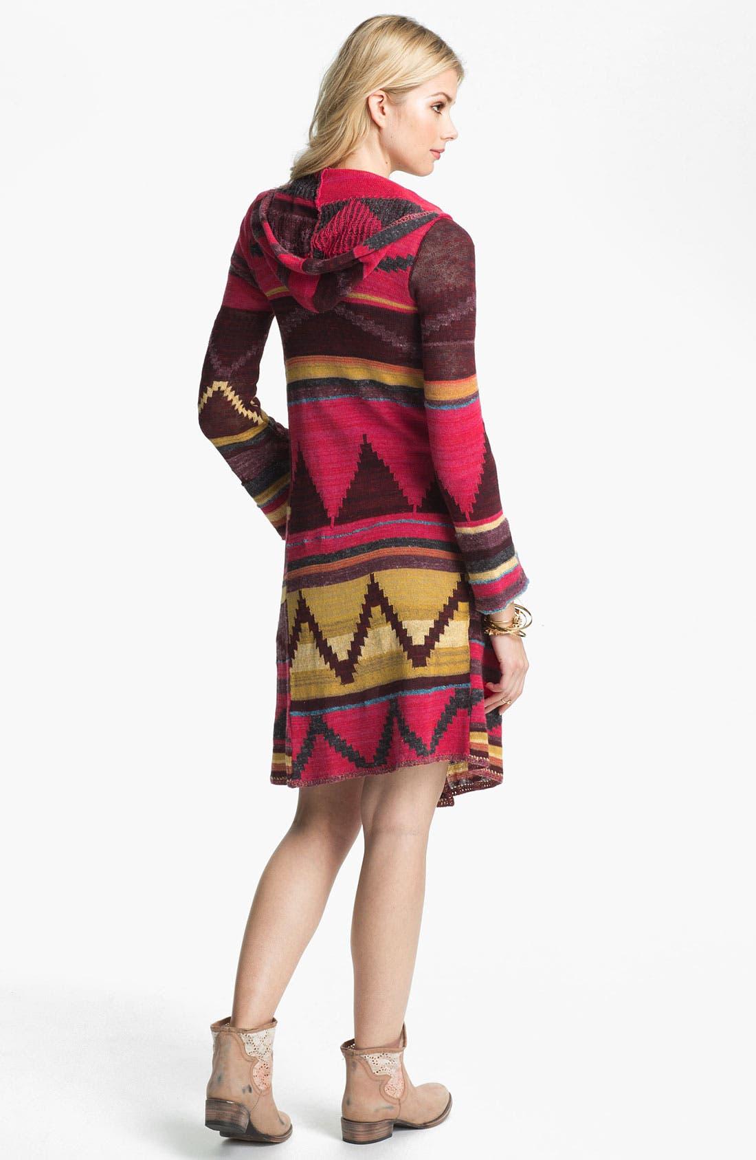 Alternate Image 2  - Free People 'Lima' Blanket Knit Hooded Cardigan