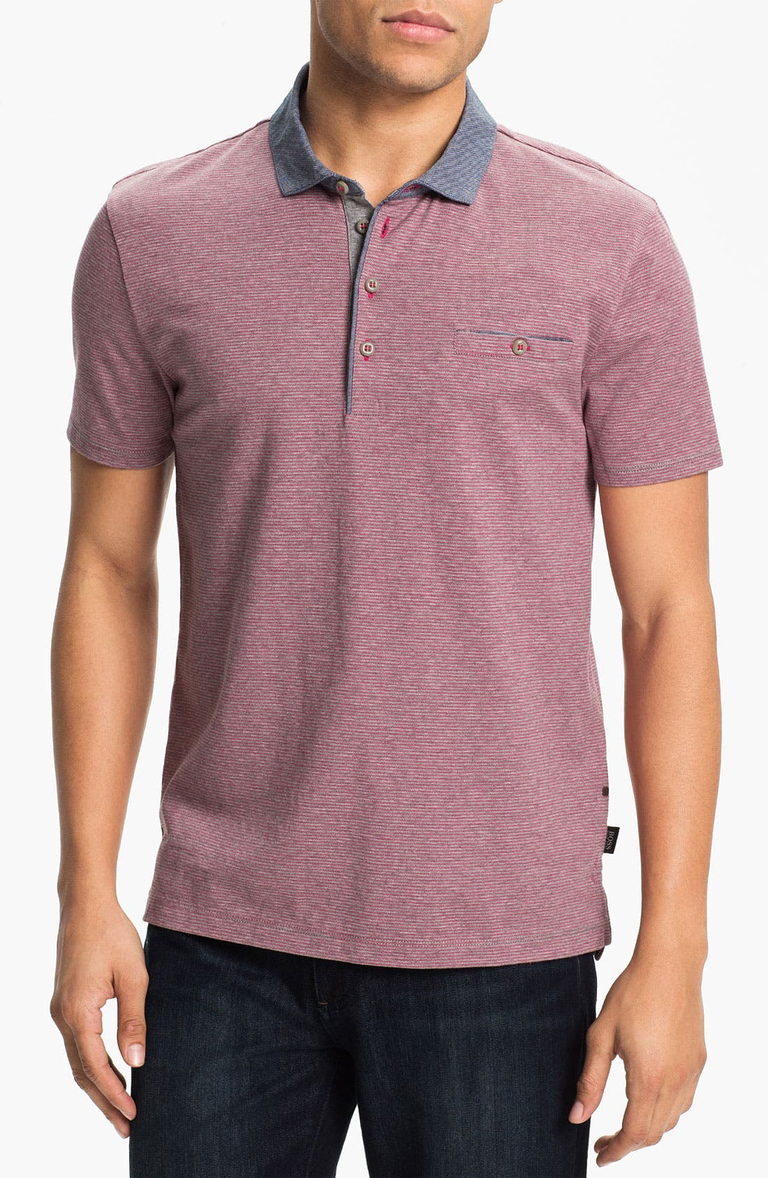 Main Image - BOSS Black 'Como 03' Regular Fit Jacquard Polo