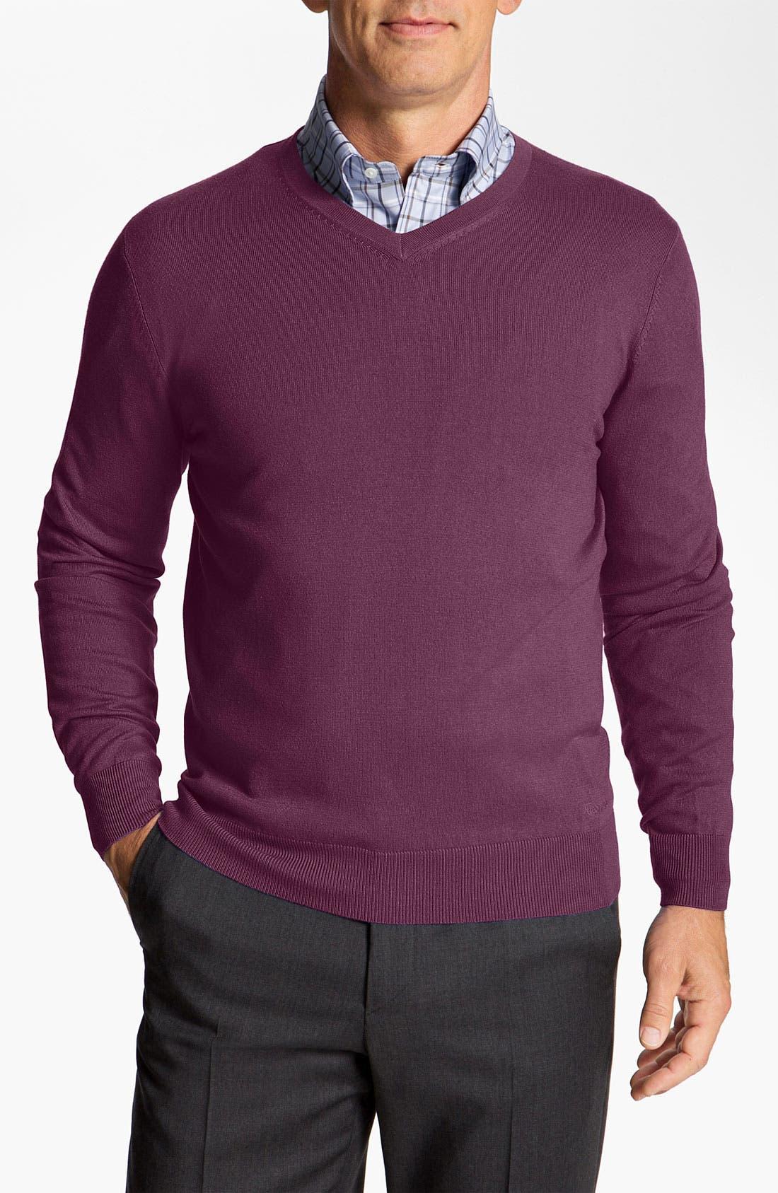 Alternate Image 1 Selected - Façonnable 'Sicoca' Classique Fit Silk Blend Sweater