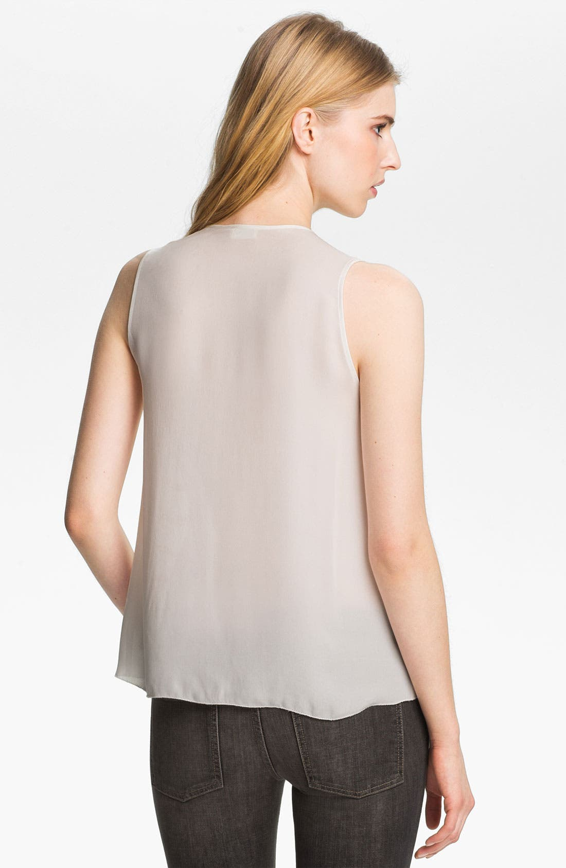 Alternate Image 3  - L'AGENCE Beaded Double Georgette Tank