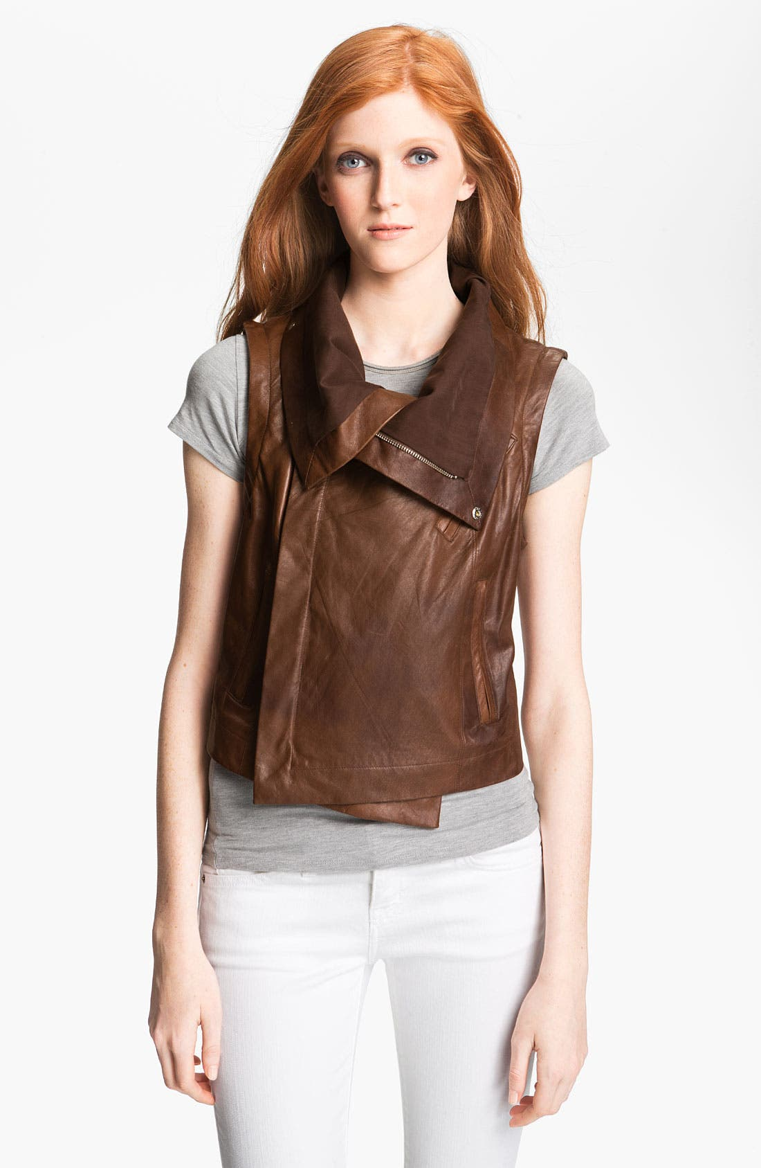Alternate Image 3  - Veda 'Max' Convertible Leather Jacket