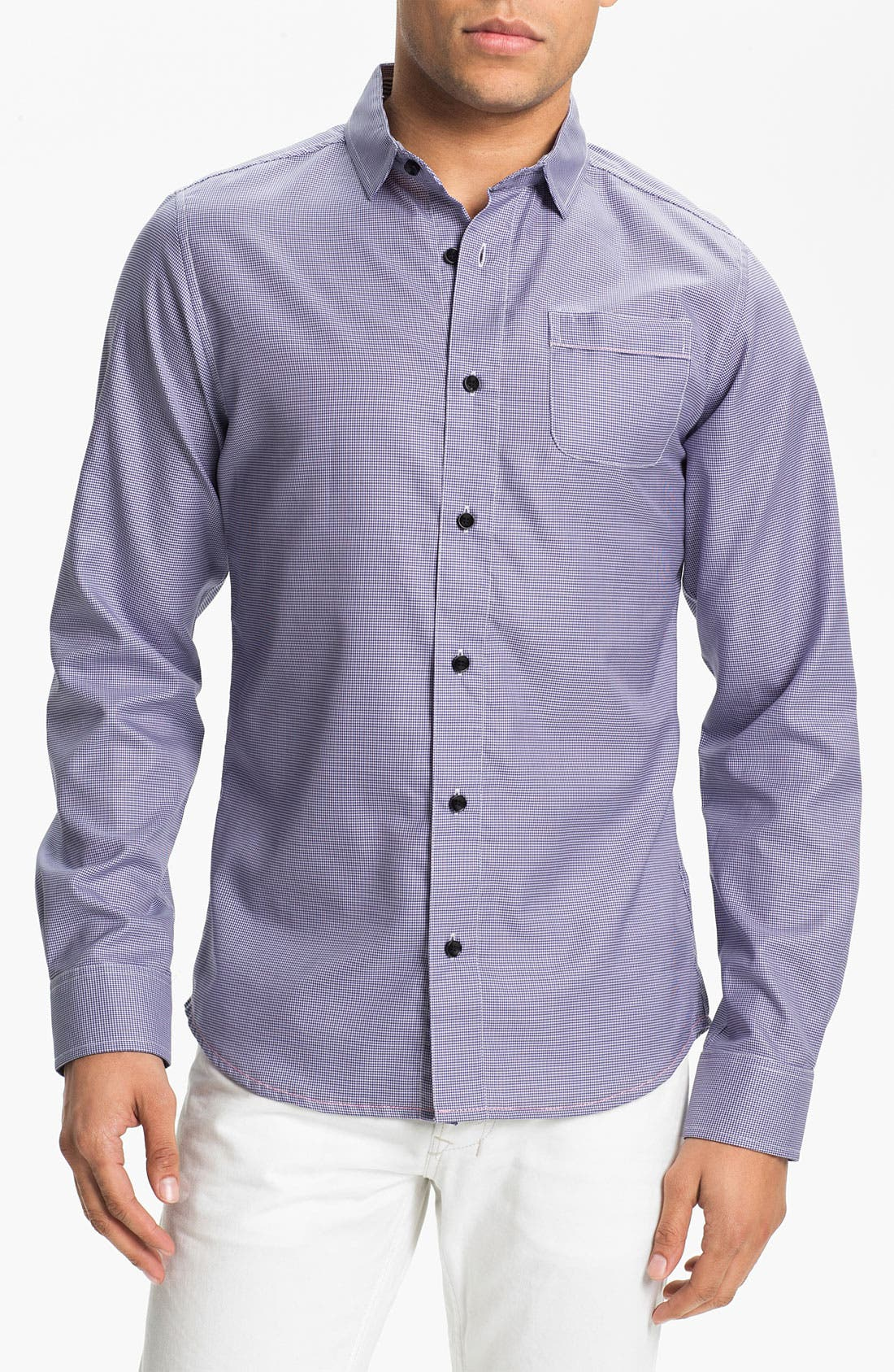 Alternate Image 1 Selected - Descendants of Thieves Micro Houndstooth Shirt