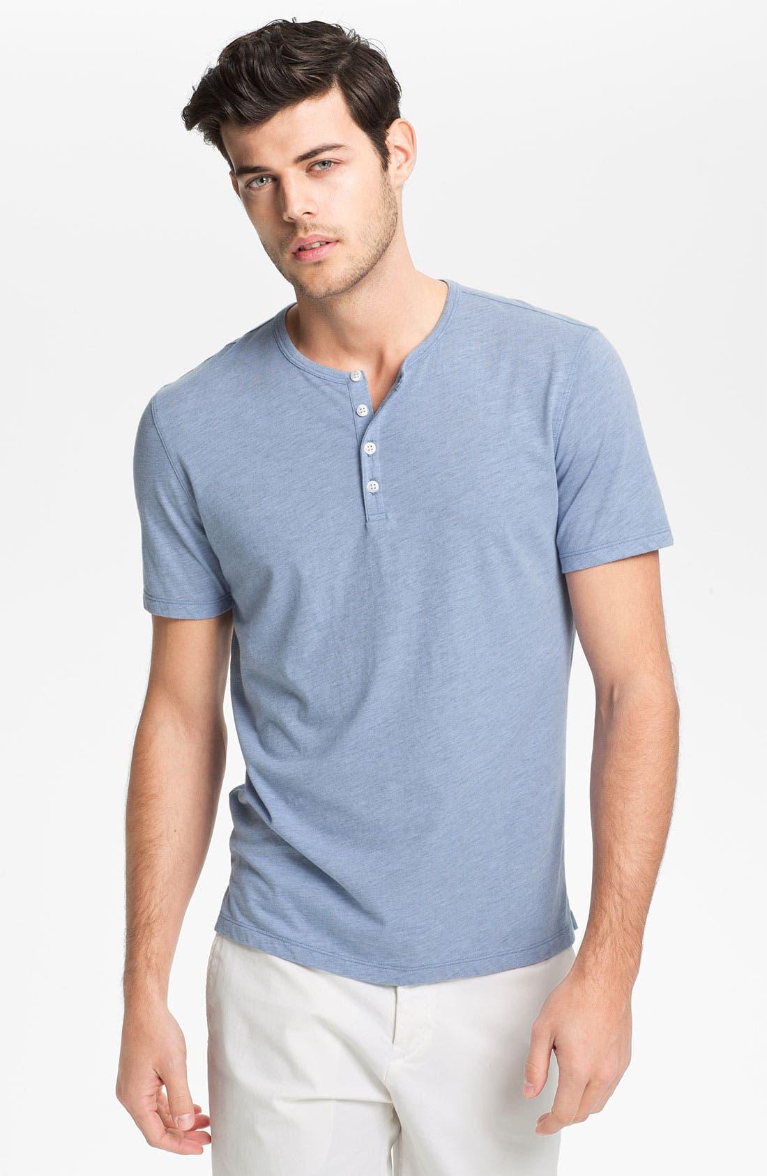 Alternate Image 1 Selected - Vince Short Sleeve Henley T-Shirt