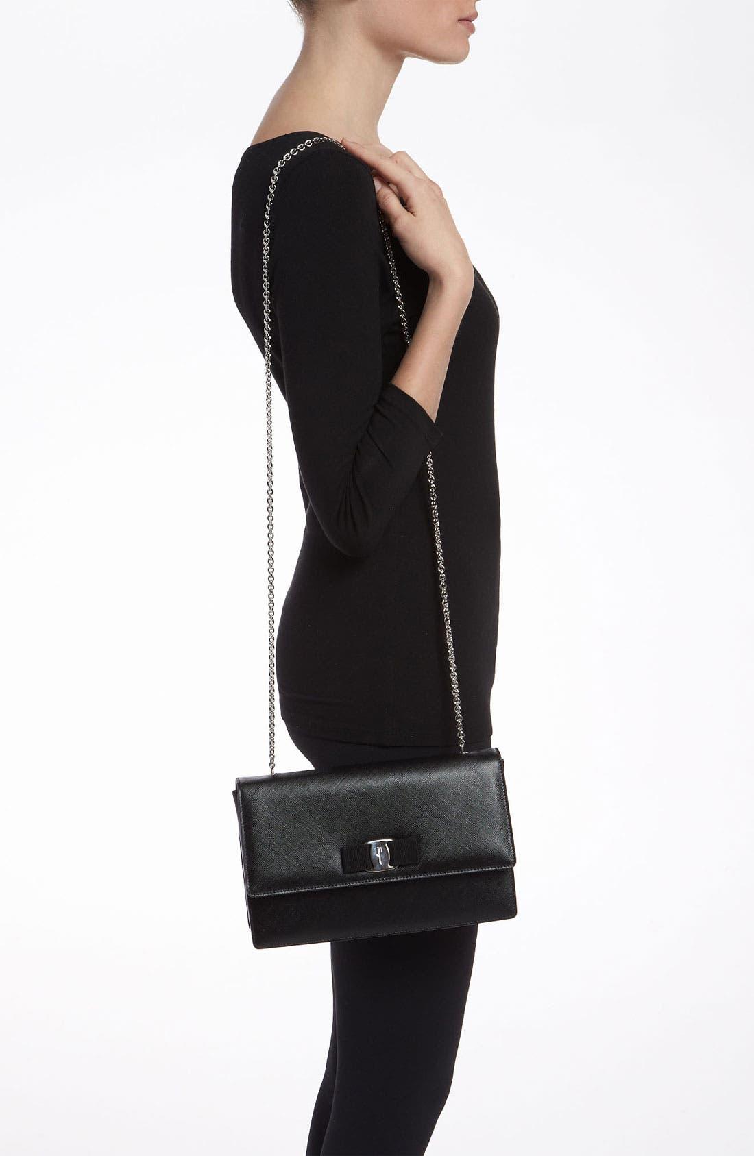 Alternate Image 2  - Salvatore Ferragamo 'Jimmy' Leather Shoulder Bag