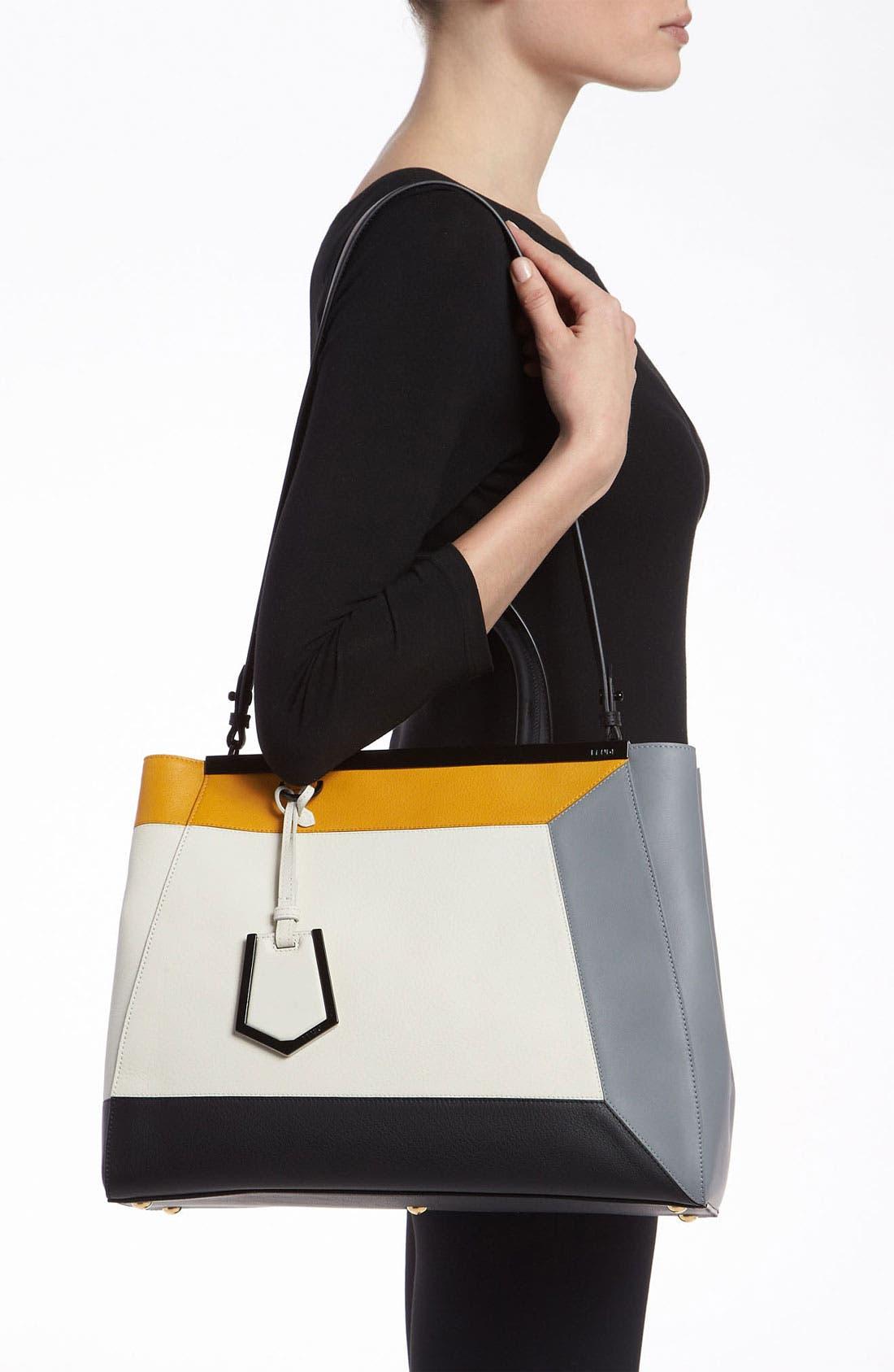 Alternate Image 2  - Fendi '2Jours 3D - Medium' Leather Shopper