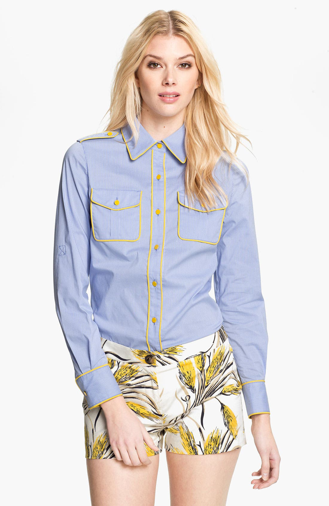 Alternate Image 1 Selected - Tory Burch 'Brigitte' Military Shirt
