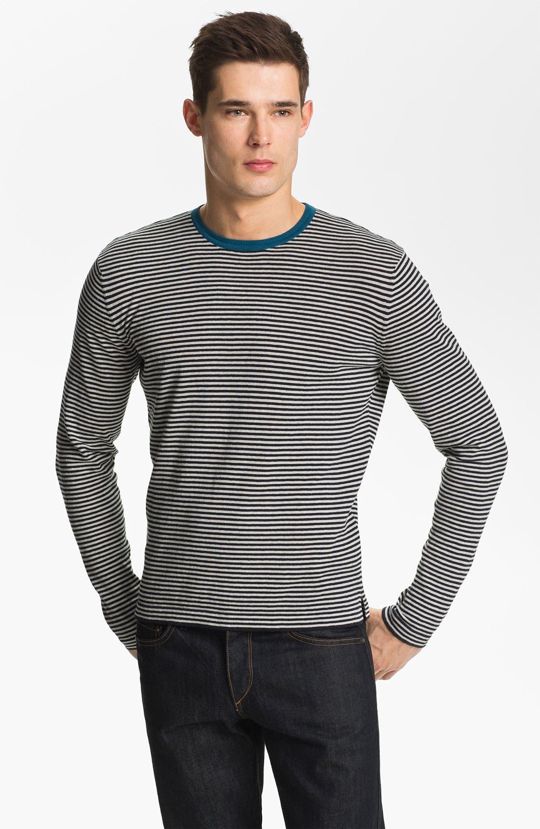 Alternate Image 1 Selected - Zegna Sport Crewneck Cotton & Linen Sweater