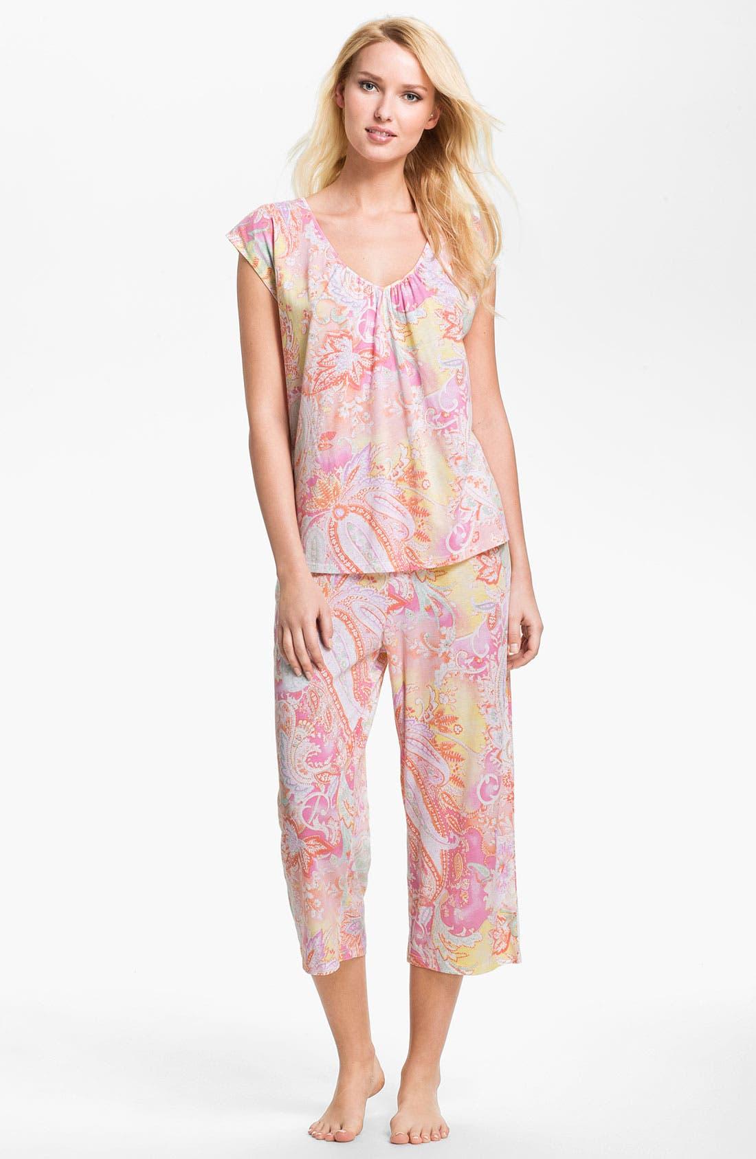 Alternate Image 1 Selected - Lauren Ralph Lauren Paisley Pattern Pajamas