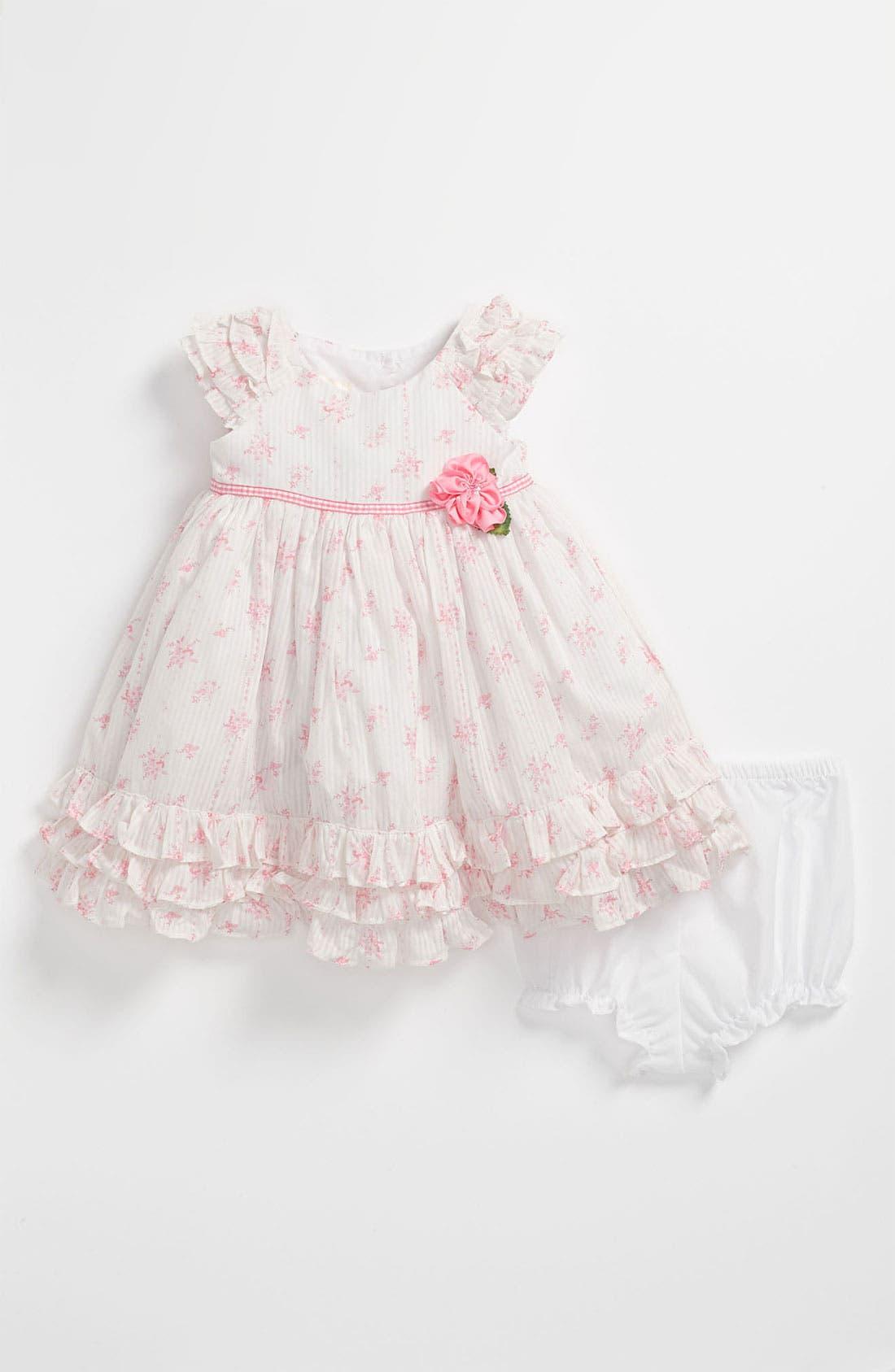 Main Image - Laura Ashley Wallpaper Print Dress & Bloomers (Infant)