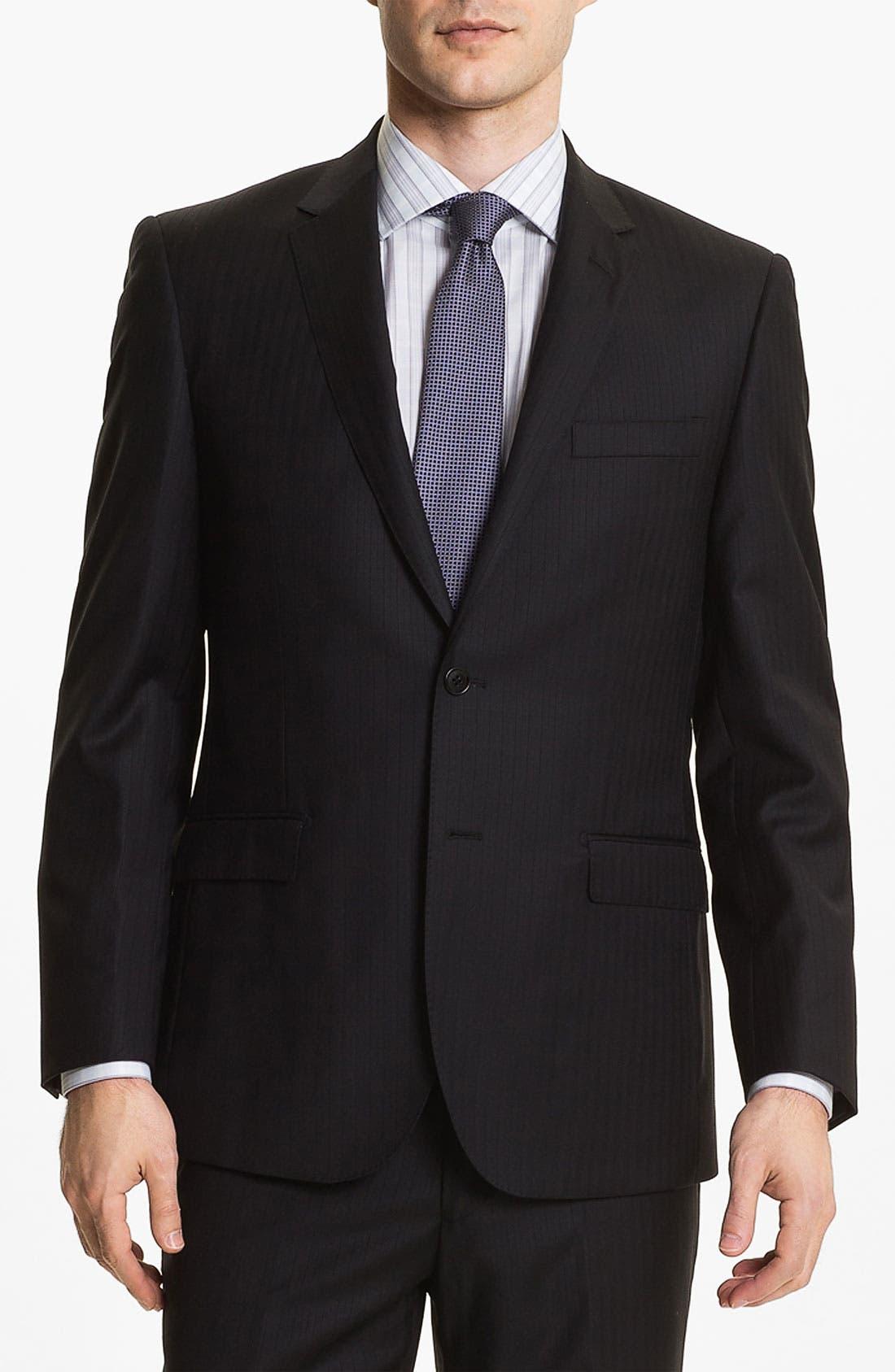 Main Image - English Laundry Trim Fit Stripe Suit (Online Only)