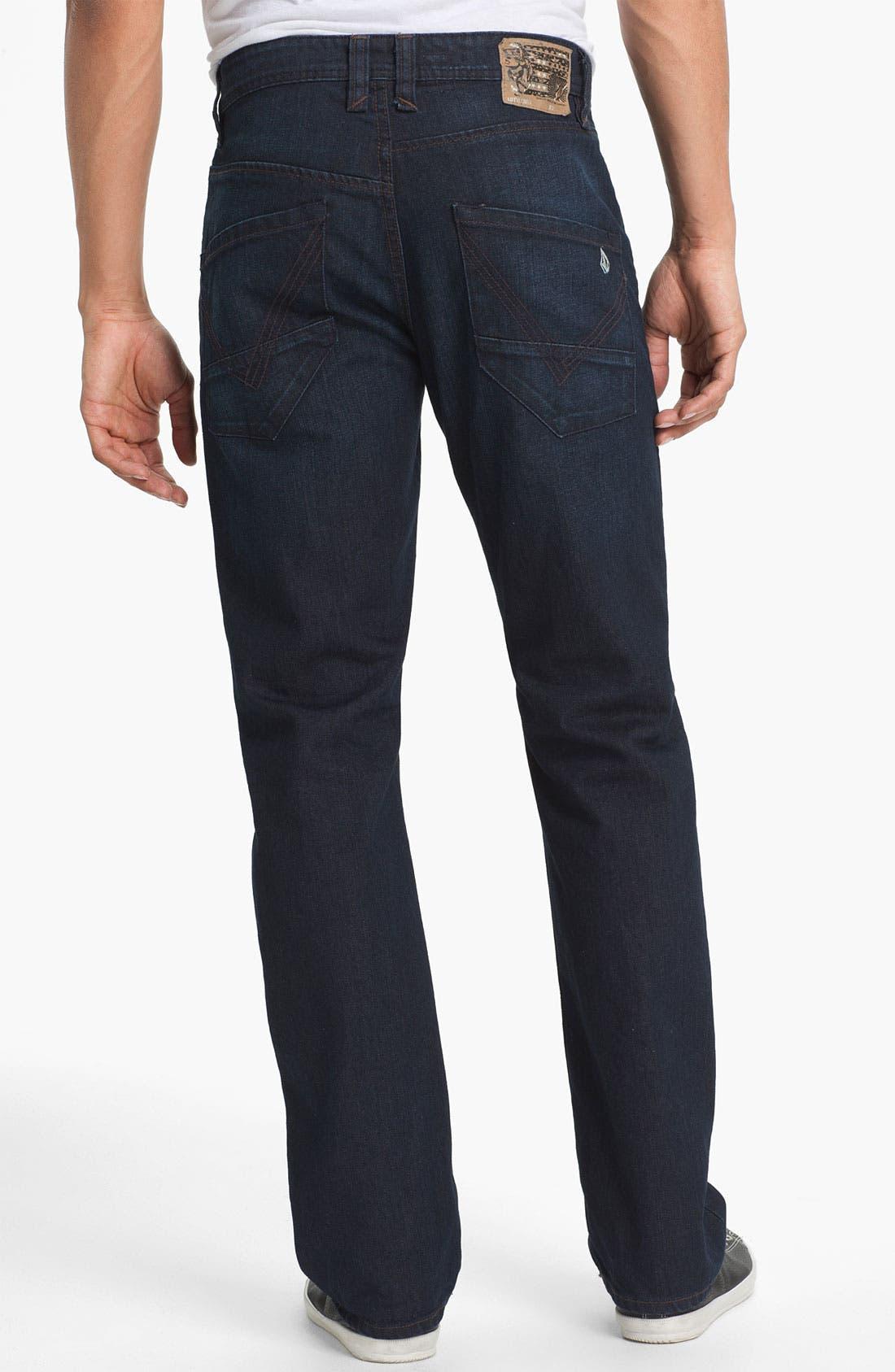 Alternate Image 1 Selected - Volcom 'Nova' Slim Straight Leg Jeans (VC02) (Online Only)