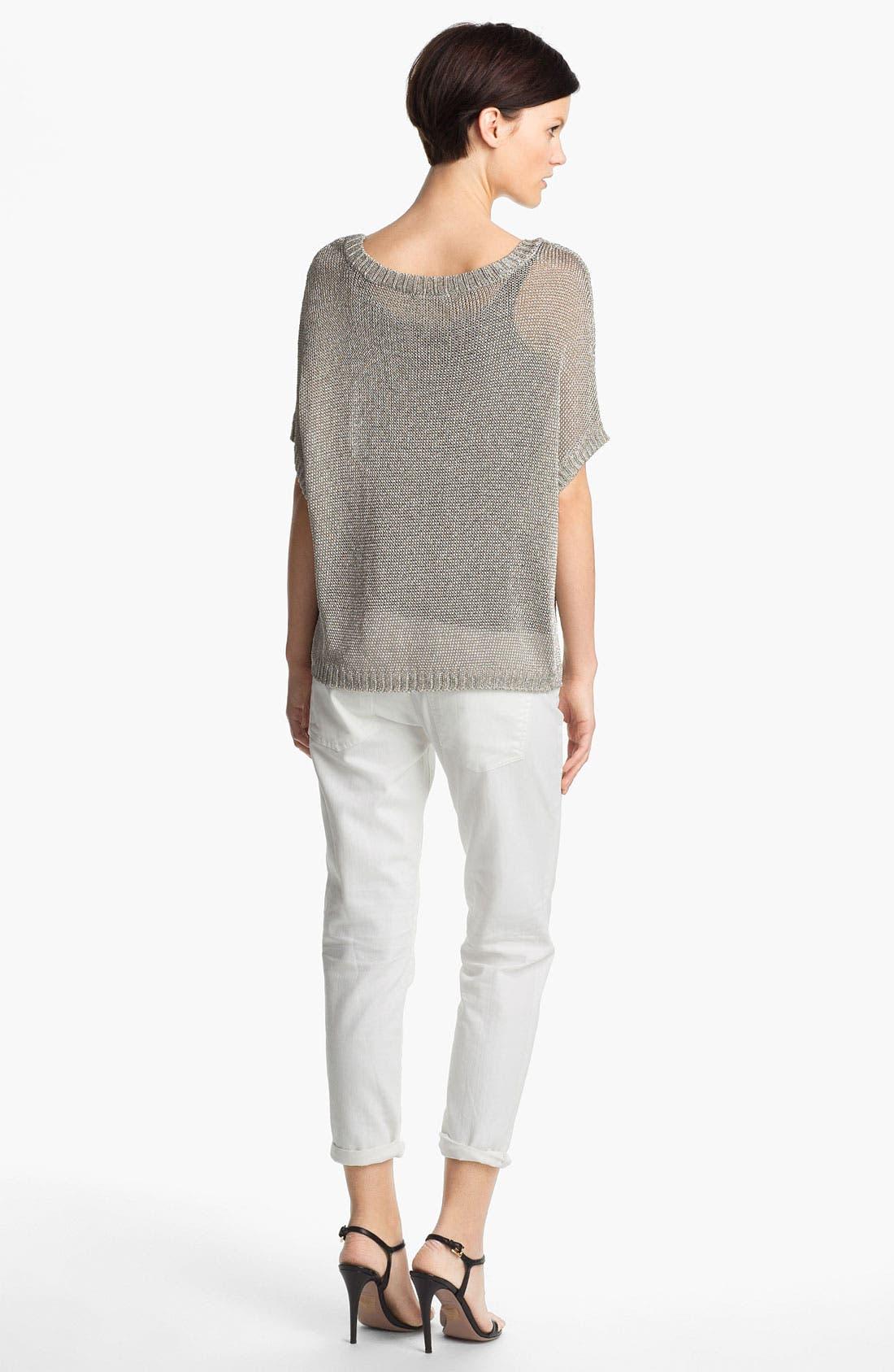Alternate Image 2  - Vince Crop Metallic Sweater