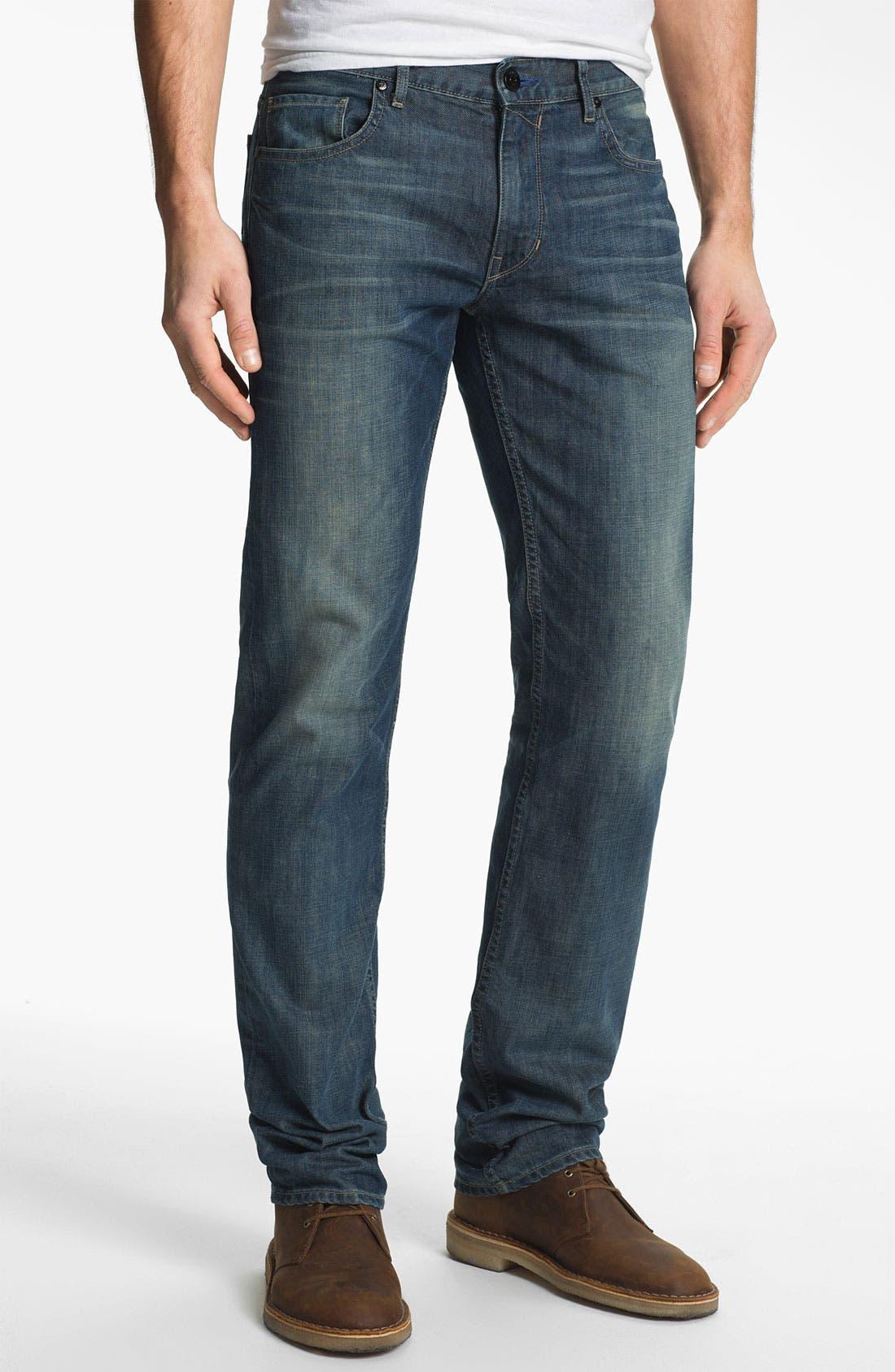 Alternate Image 2  - PAIGE 'Normandie' Slim Straight Leg Jeans (Lowtide)