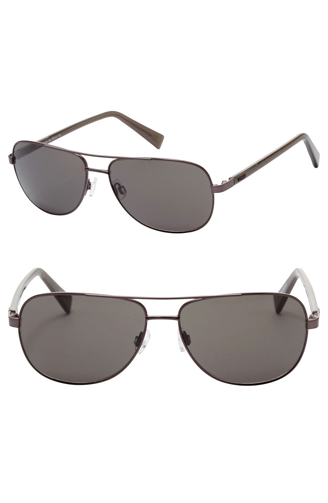 Alternate Image 1 Selected - Fossil 'Wade' 59mm Aviator Sunglasses