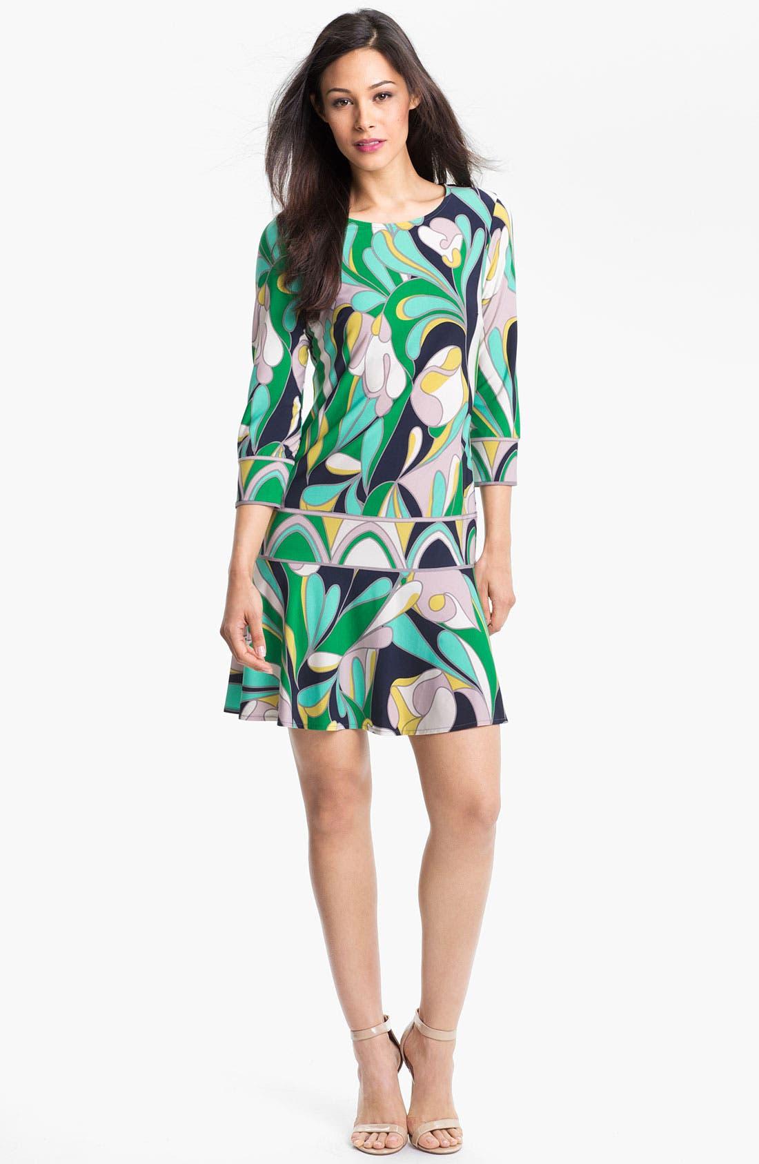 Main Image - Donna Morgan Drop Waist Print Dress