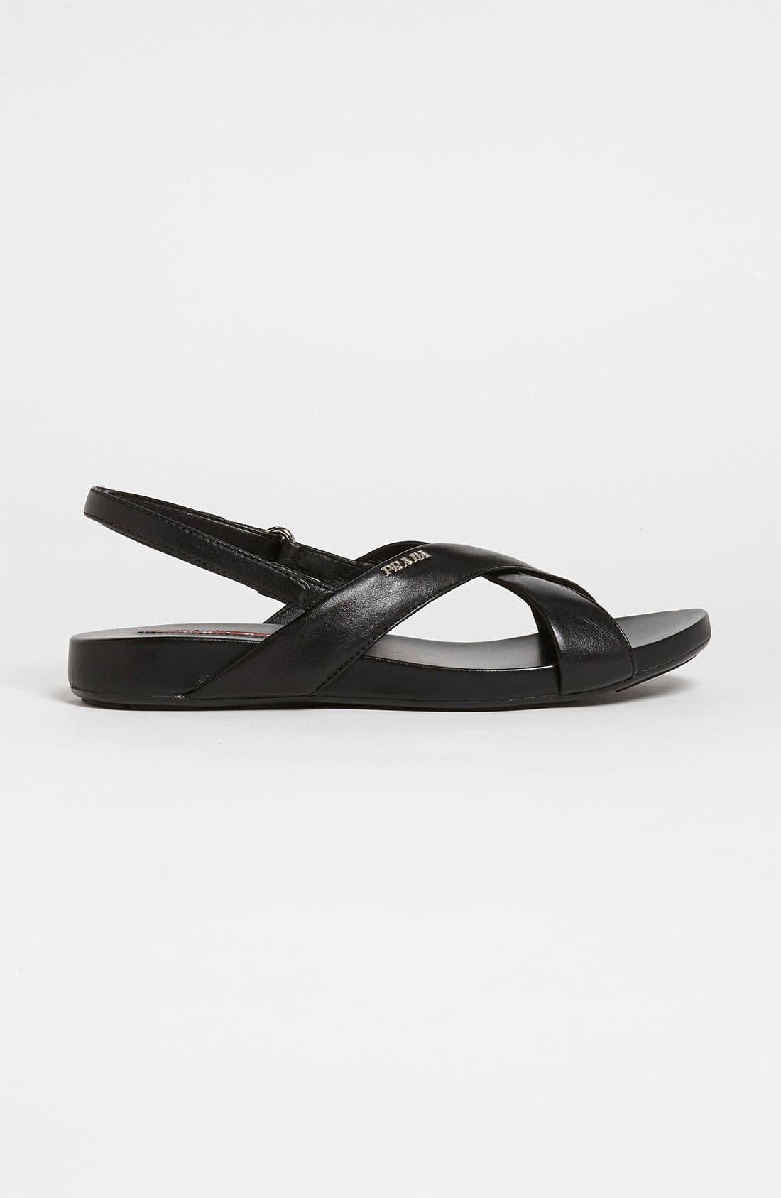 Alternate Image 4  - Prada Crisscross Sandal