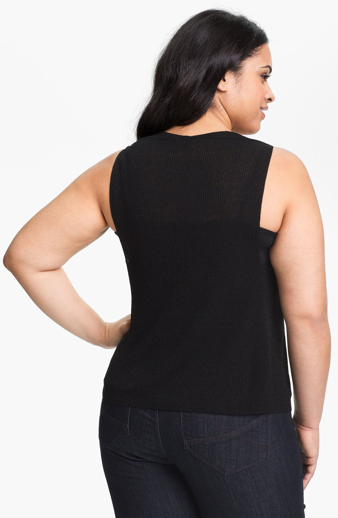 Alternate Image 2  - Eileen Fisher Cowl Neck Knit Tank (Plus Size)