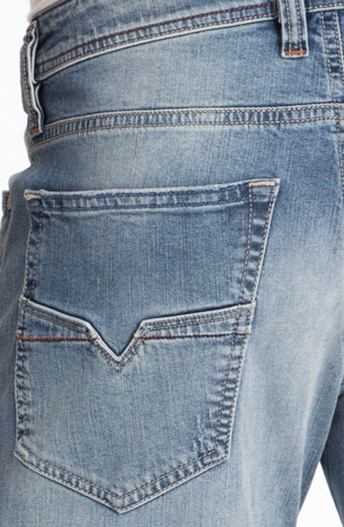 Alternate Image 4  - DIESEL® 'Larkee' Relaxed Straight Leg Jeans (0811E)