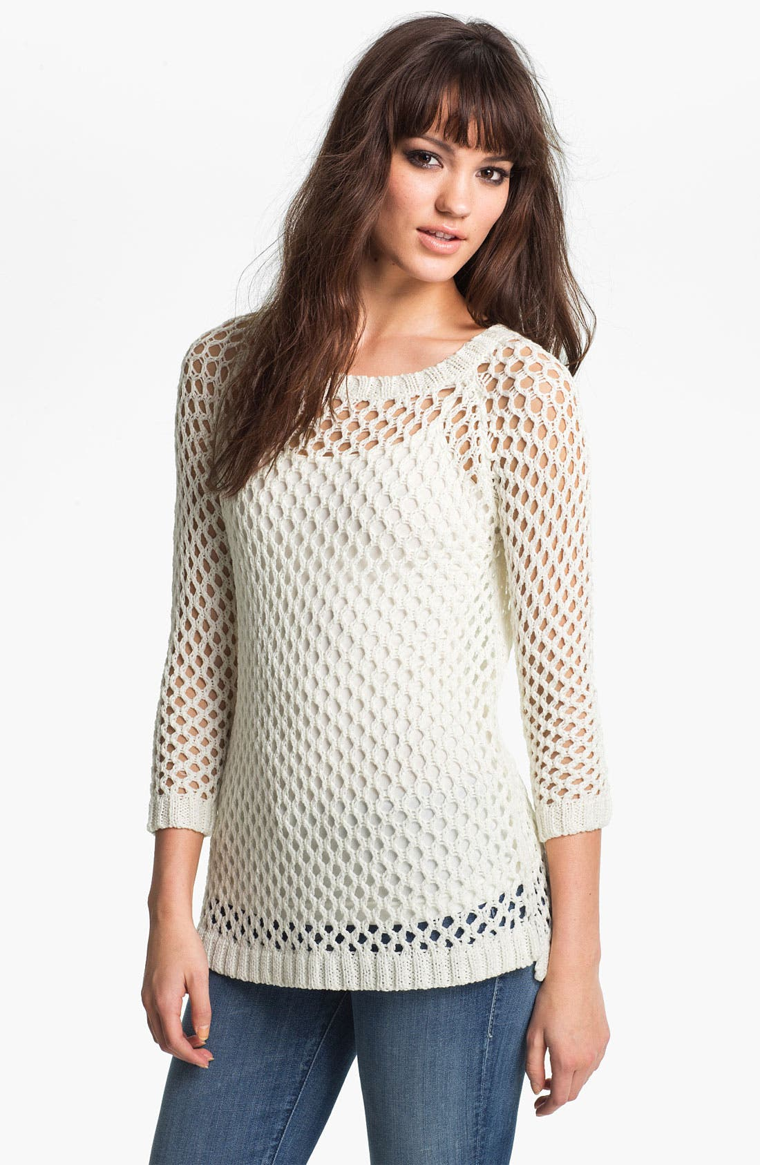 Alternate Image 1 Selected - Soft Joie 'Addler' Net Knit Sweater