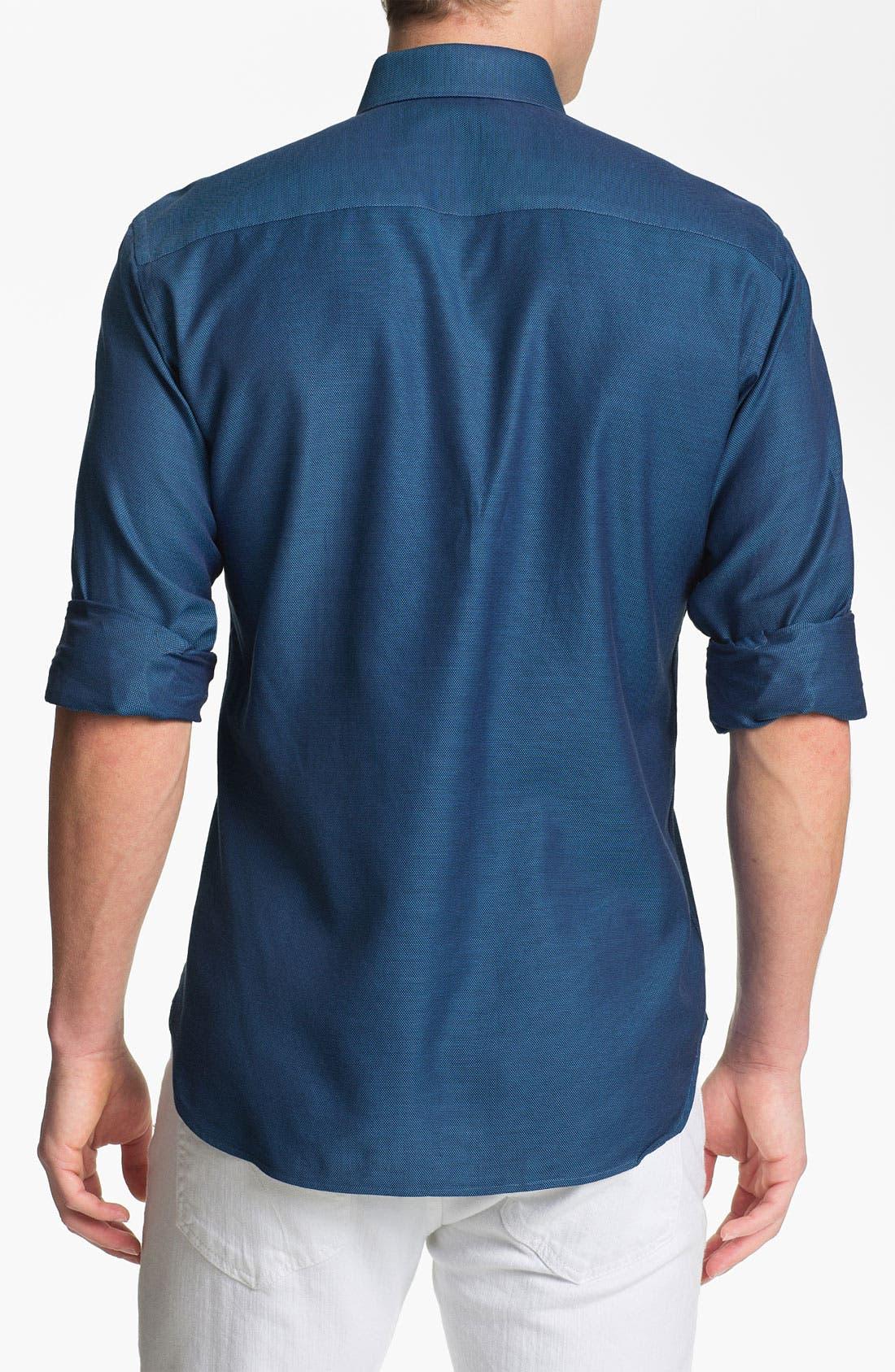 Alternate Image 2  - Stone Rose Texture Woven Shirt