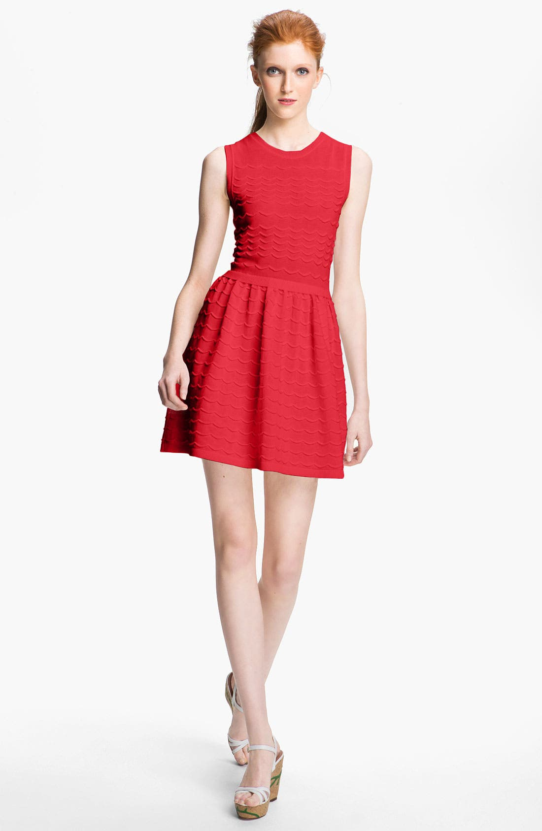 Alternate Image 1 Selected - RED Valentino Cotton Yarn Dress