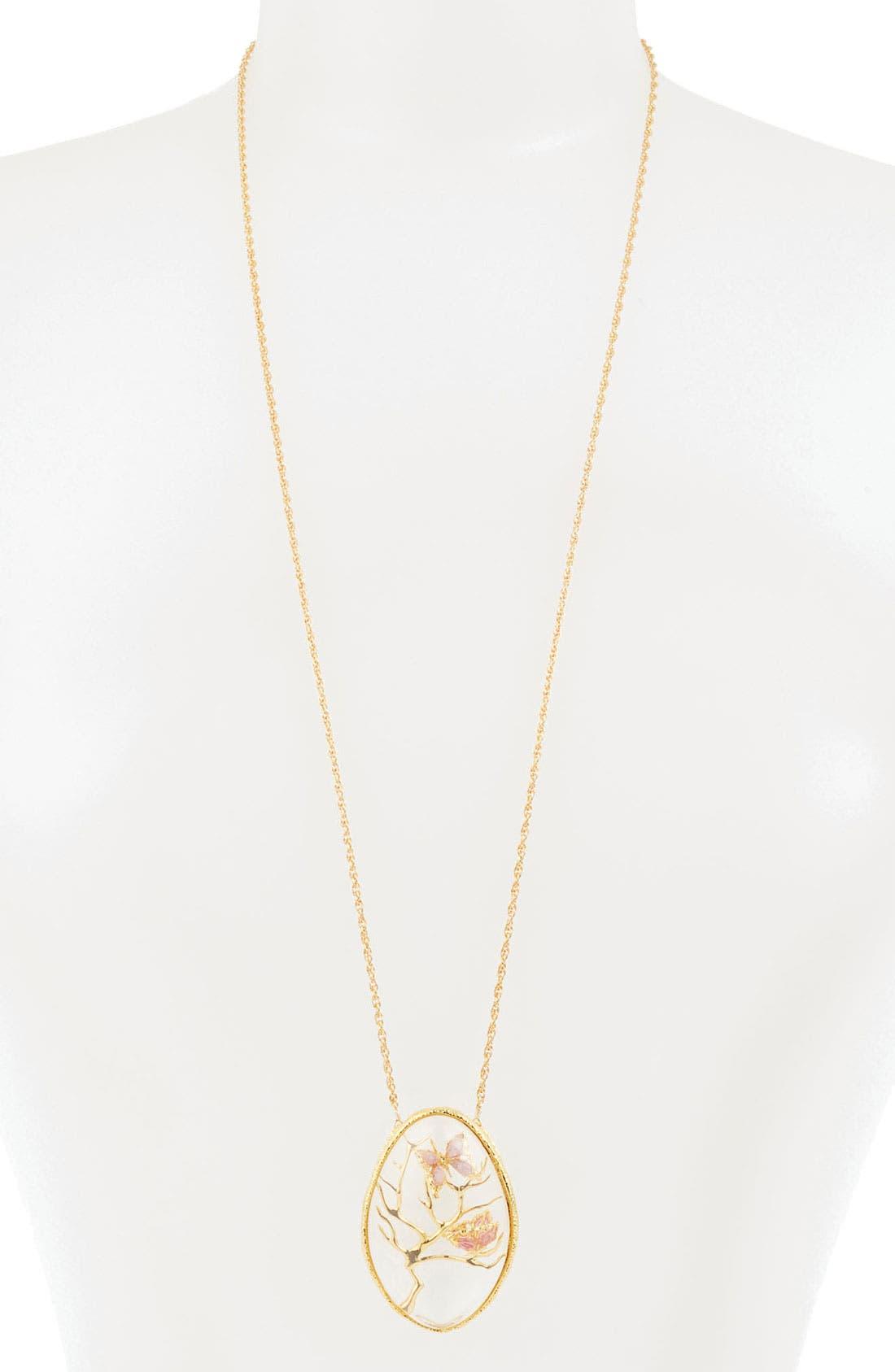Alternate Image 1 Selected - Alexis Bittar 'Elements - Floral' Long Pendant Necklace