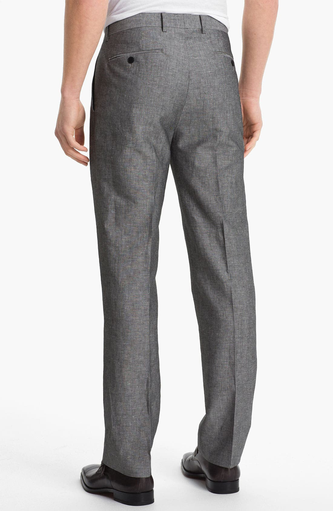 Alternate Image 2  - John Varvatos Star USA Red Label 'Petro' Linen & Cotton Trousers