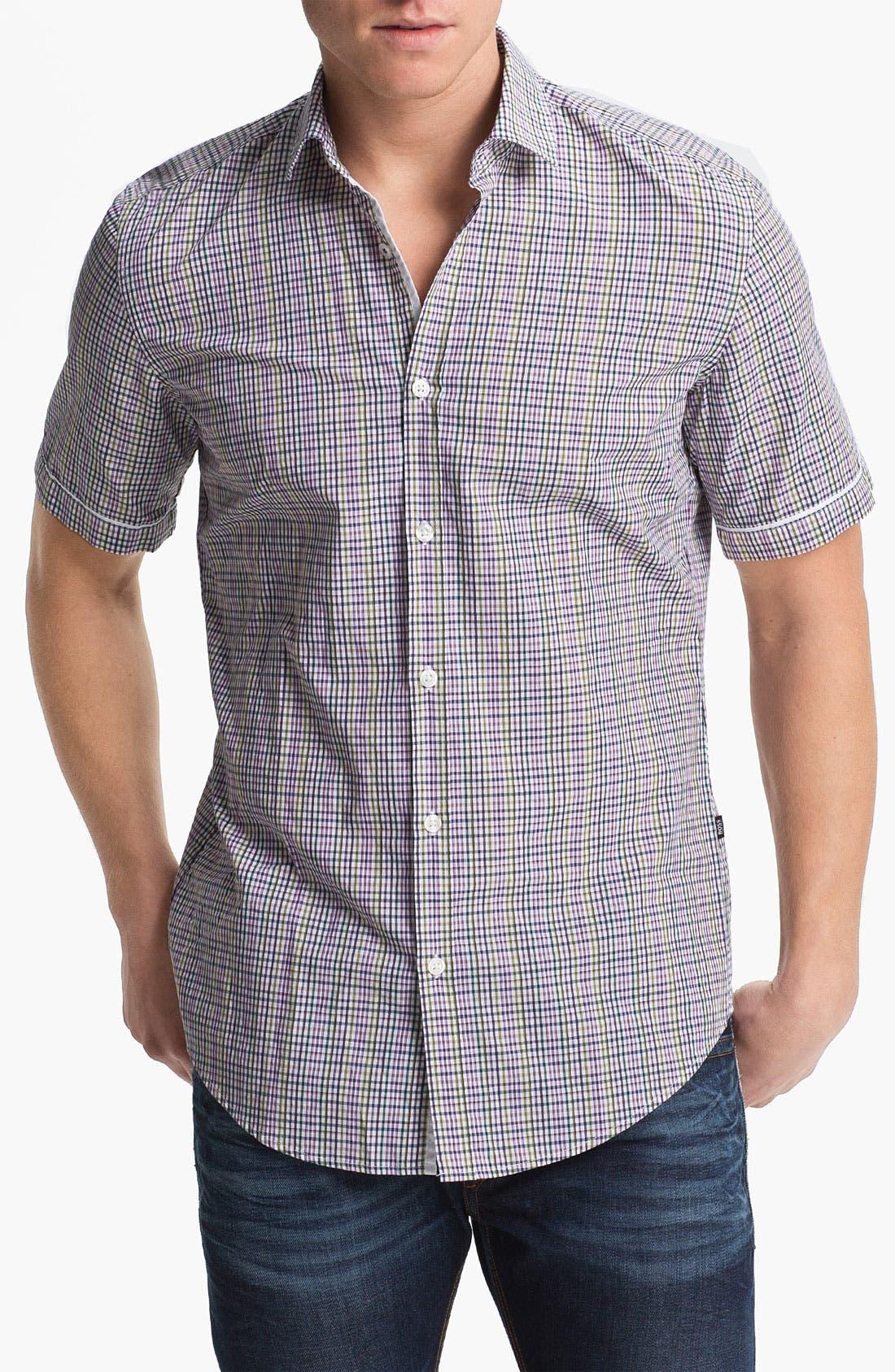 Alternate Image 1 Selected - BOSS Black 'Ring 1' Slim Fit Sport Shirt