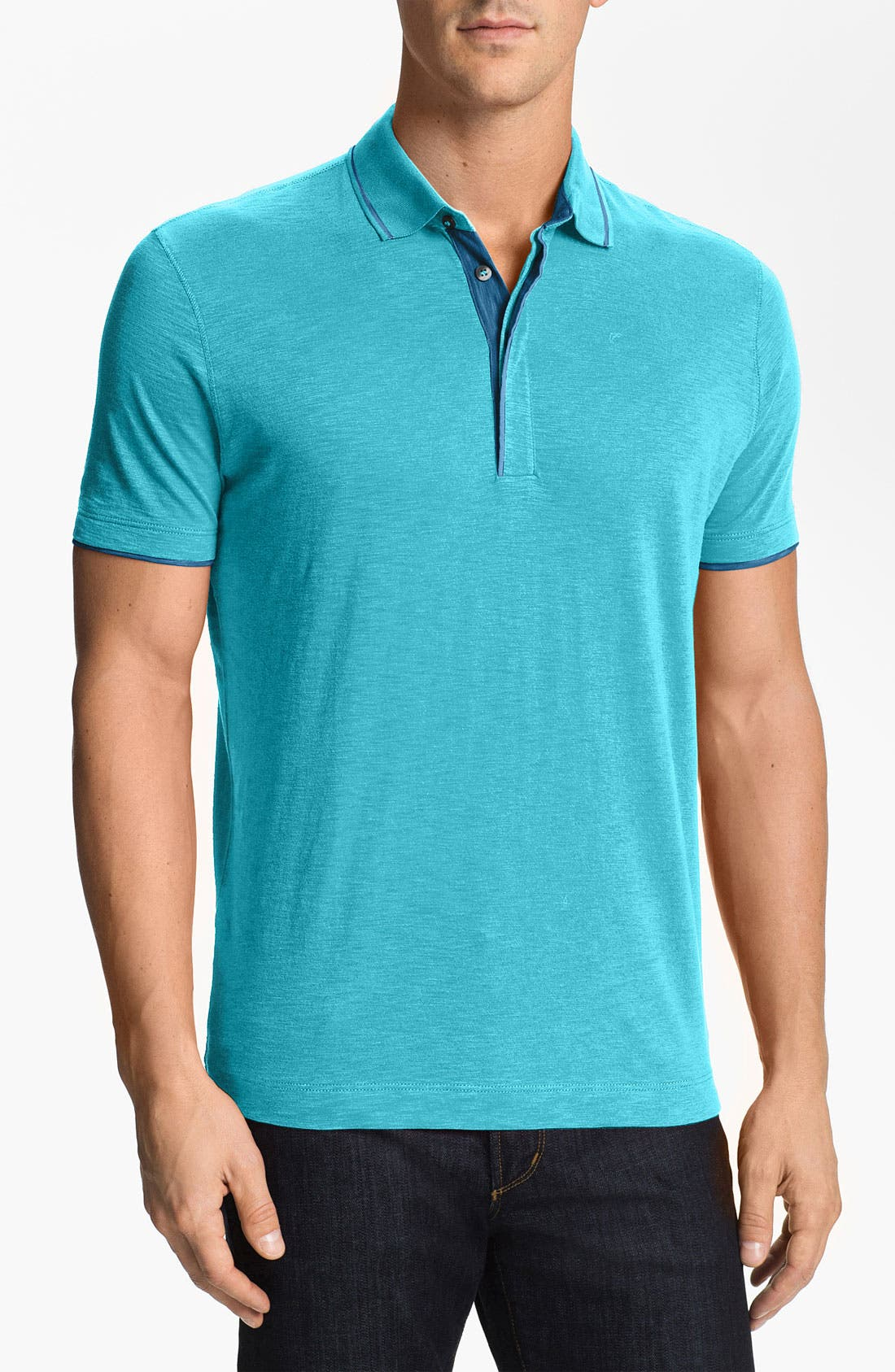 Alternate Image 1 Selected - BOSS HUGO BOSS 'Bugnara 14' Regular Fit Polo