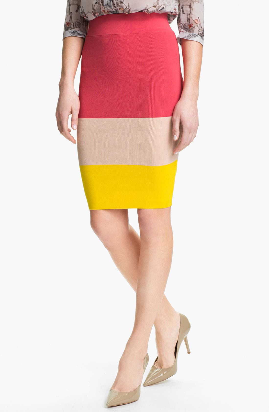 Main Image - Ted Baker London Knit Pencil Skirt (Online Only)