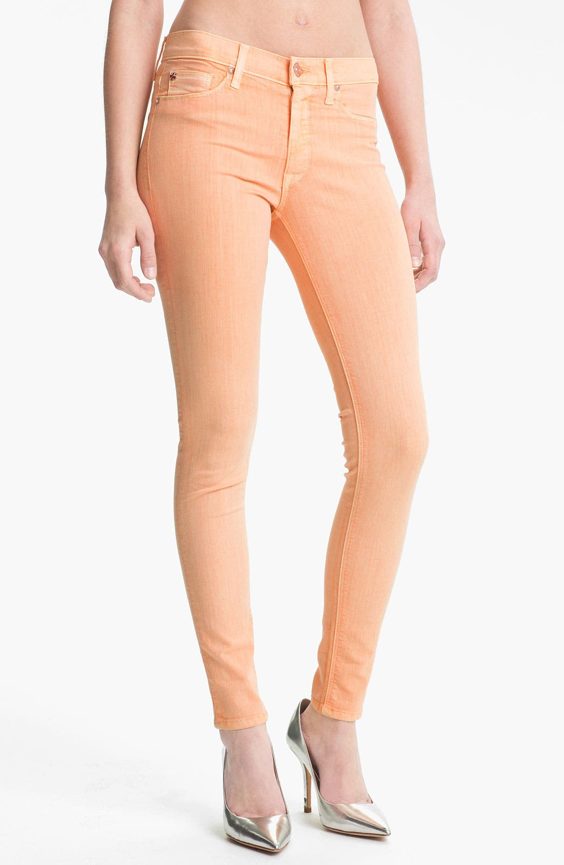Main Image - Hudson Jeans 'Nico' Skinny Overdyed Jeans (Apricot)