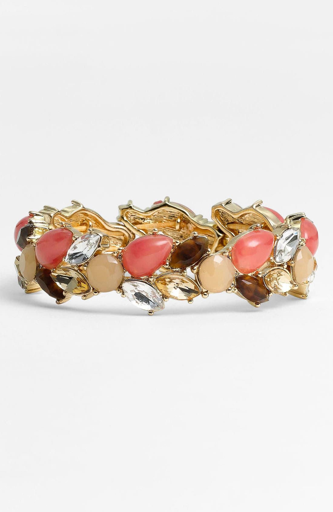 Main Image - Anne Klein 'Burst & Bloom' Stretch Bracelet
