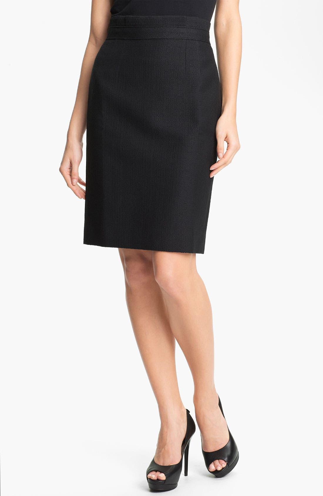 Main Image - Classiques Entier 'Bella' Textured Skirt