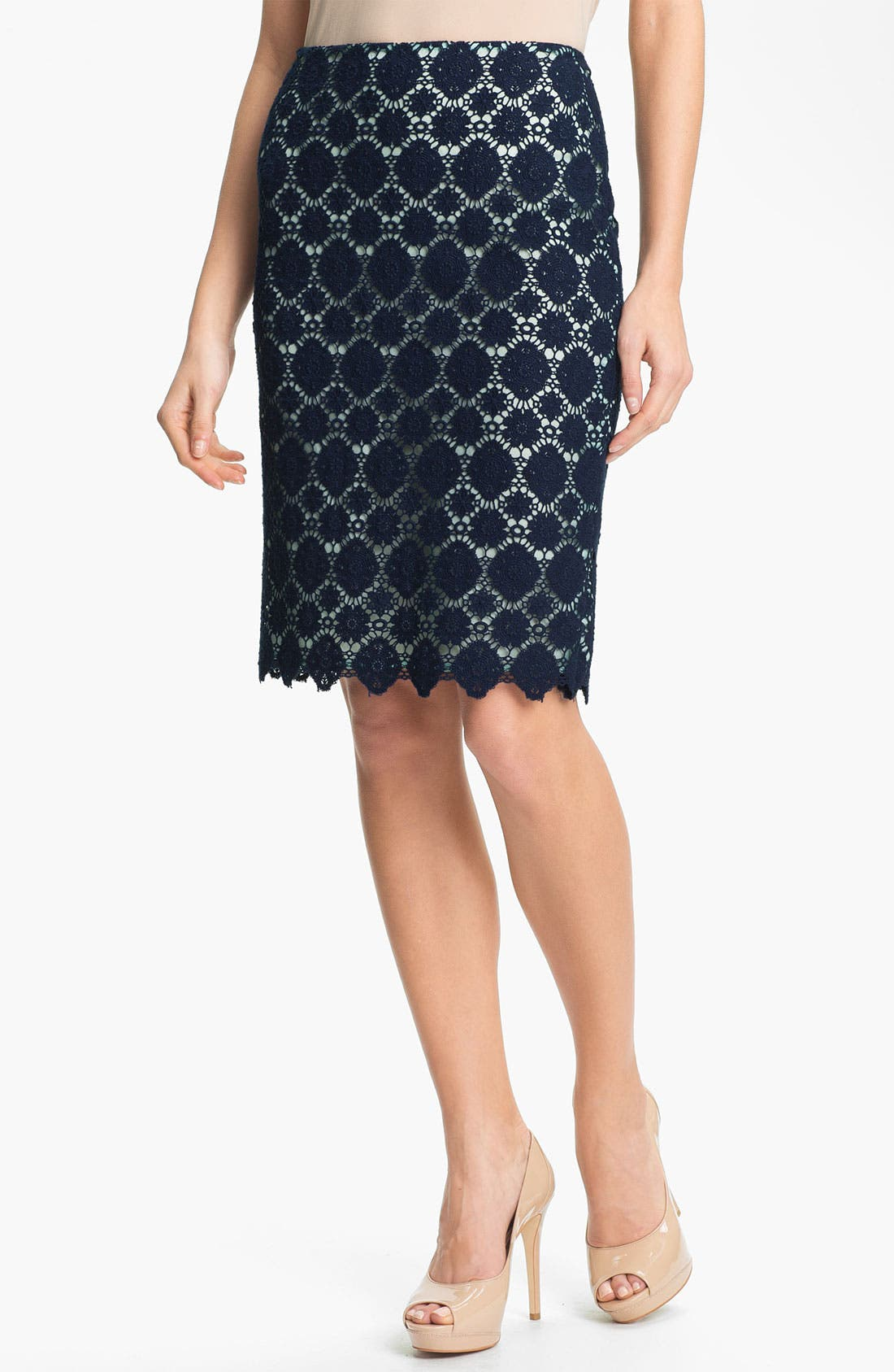 Alternate Image 1 Selected - Vince Camuto Crochet Lace Pencil Skirt