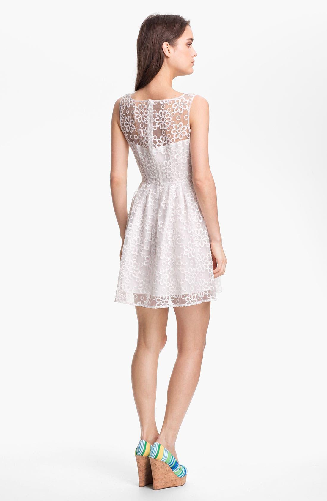 Alternate Image 2  - BB Dakota 'Huela' Organza Fit & Flare Dress