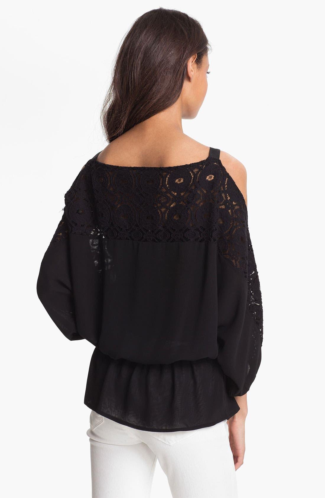 Alternate Image 2  - Kay Celine Cold Shoulder Lace Blouse