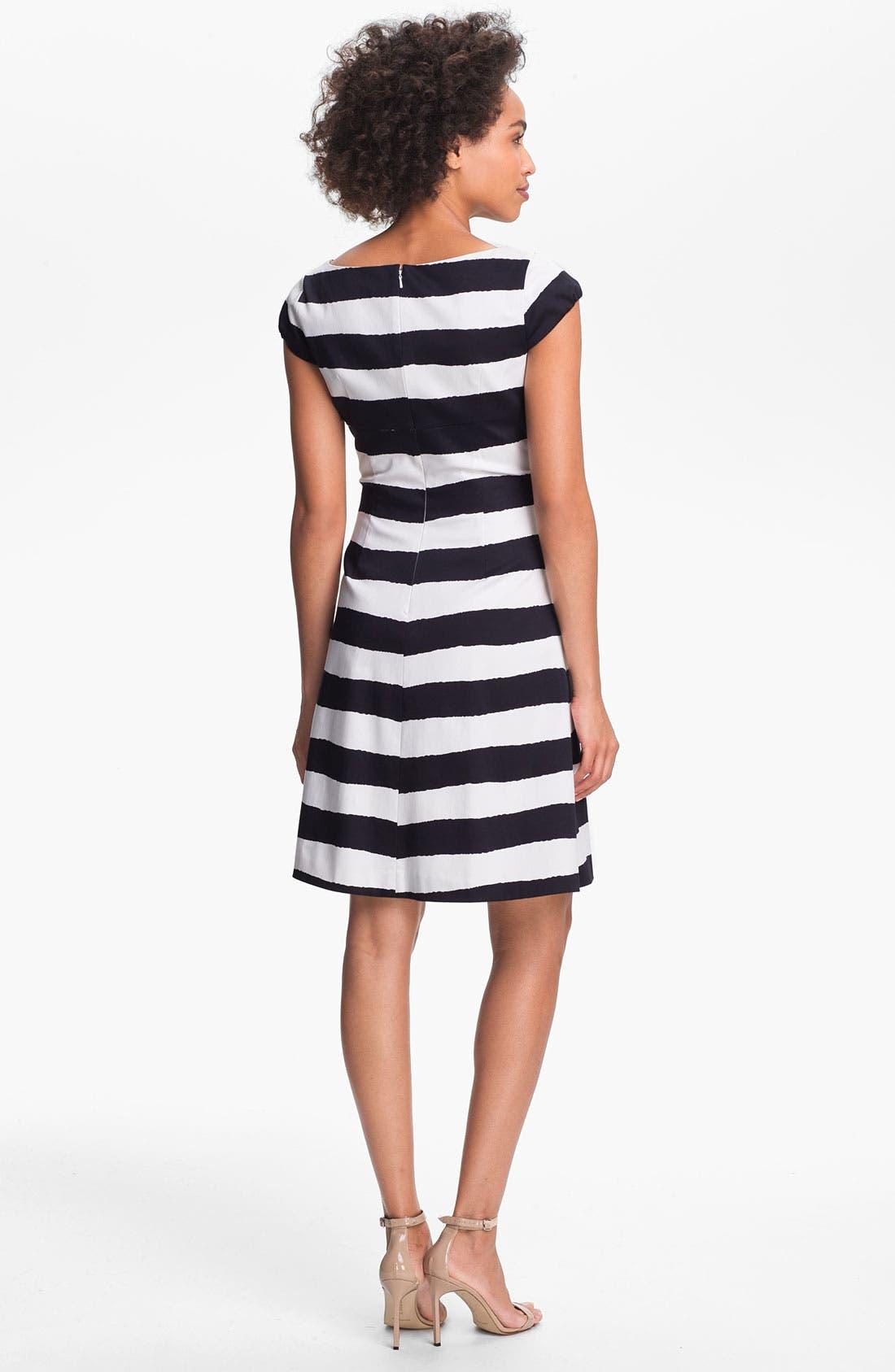 Alternate Image 2  - Tahari Bow Detail Stripe Dress