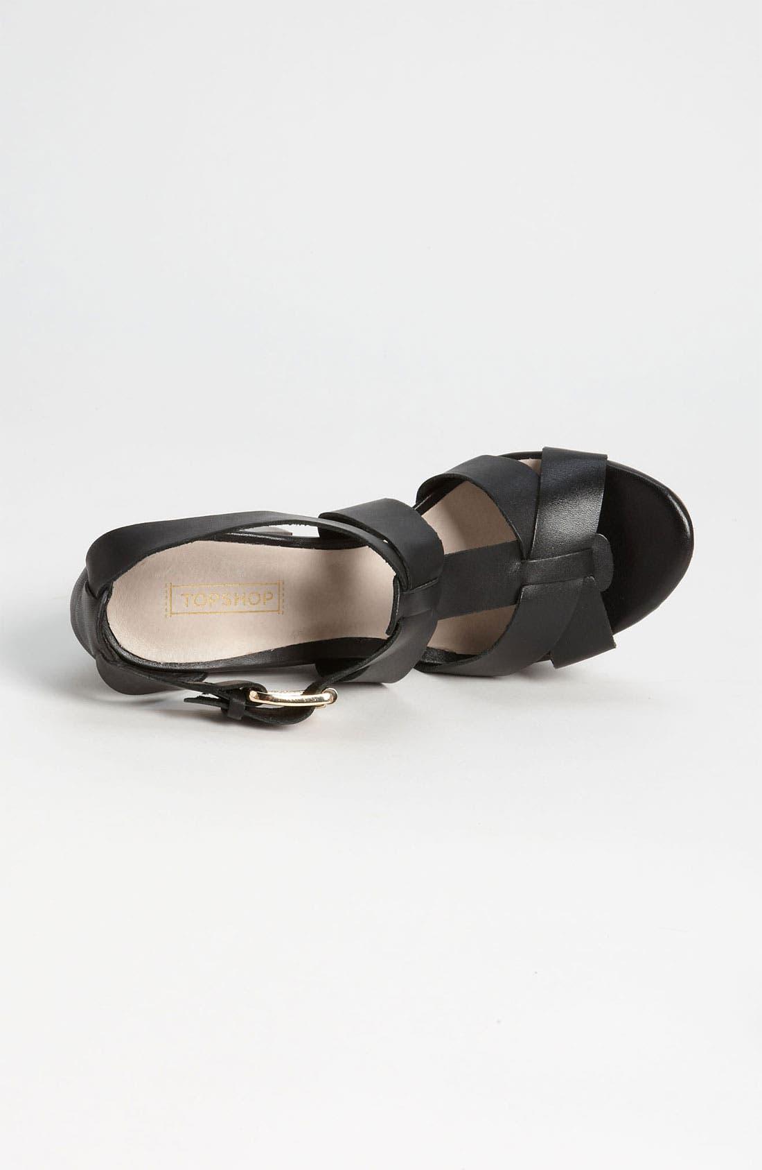 Alternate Image 3  - Topshop 'Right-Wood' Sandal