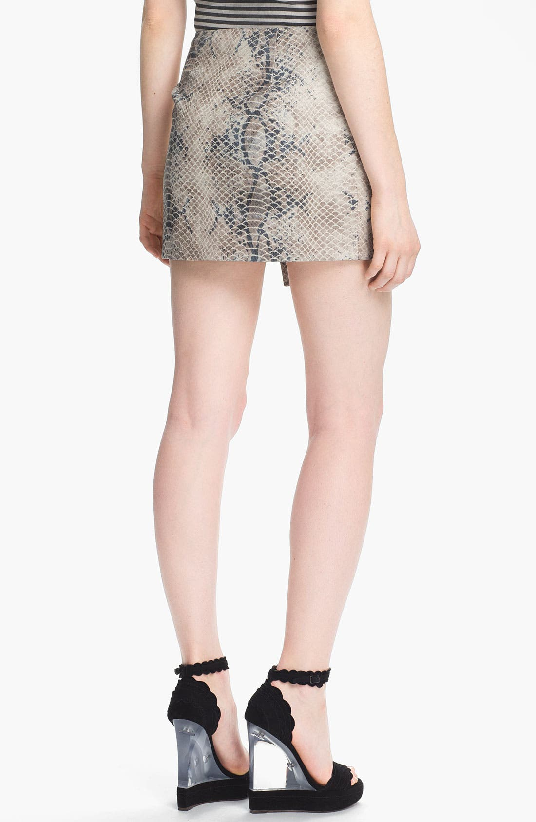 Alternate Image 3  - Gryphon Embossed Wrap Skirt