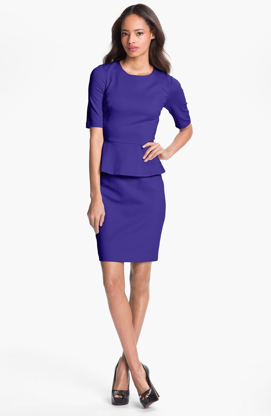Alternate Image 1  - Trina Turk 'Trophie' Peplum Ponte Sheath Dress