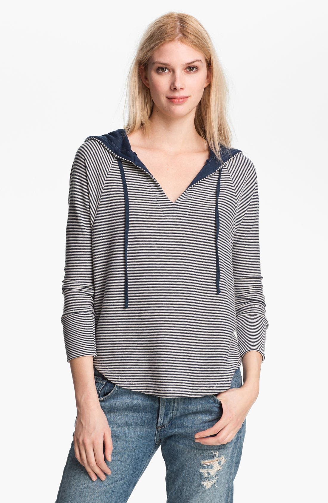 Alternate Image 1 Selected - Splendid Mini Stripe Pullover Hoodie