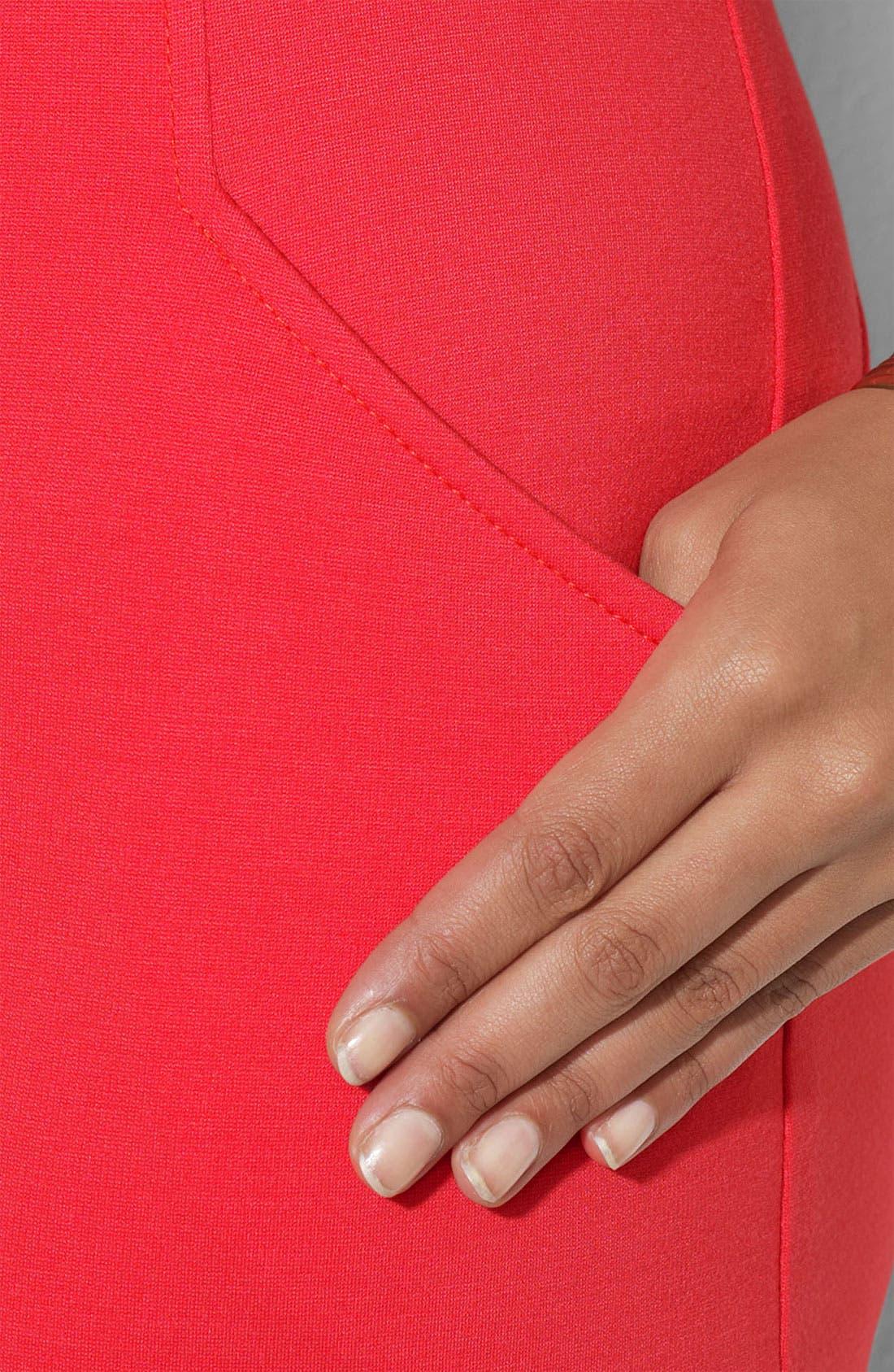 Alternate Image 3  - Lauren Ralph Lauren Bateau Neck Ponte Knit Sheath Dress (Plus)