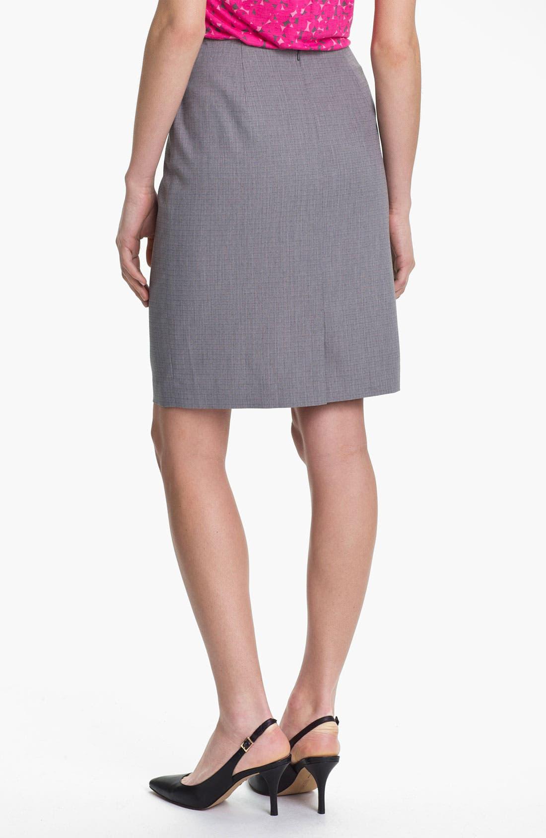 Alternate Image 2  - Halogen® Tonal Texture Suit Skirt