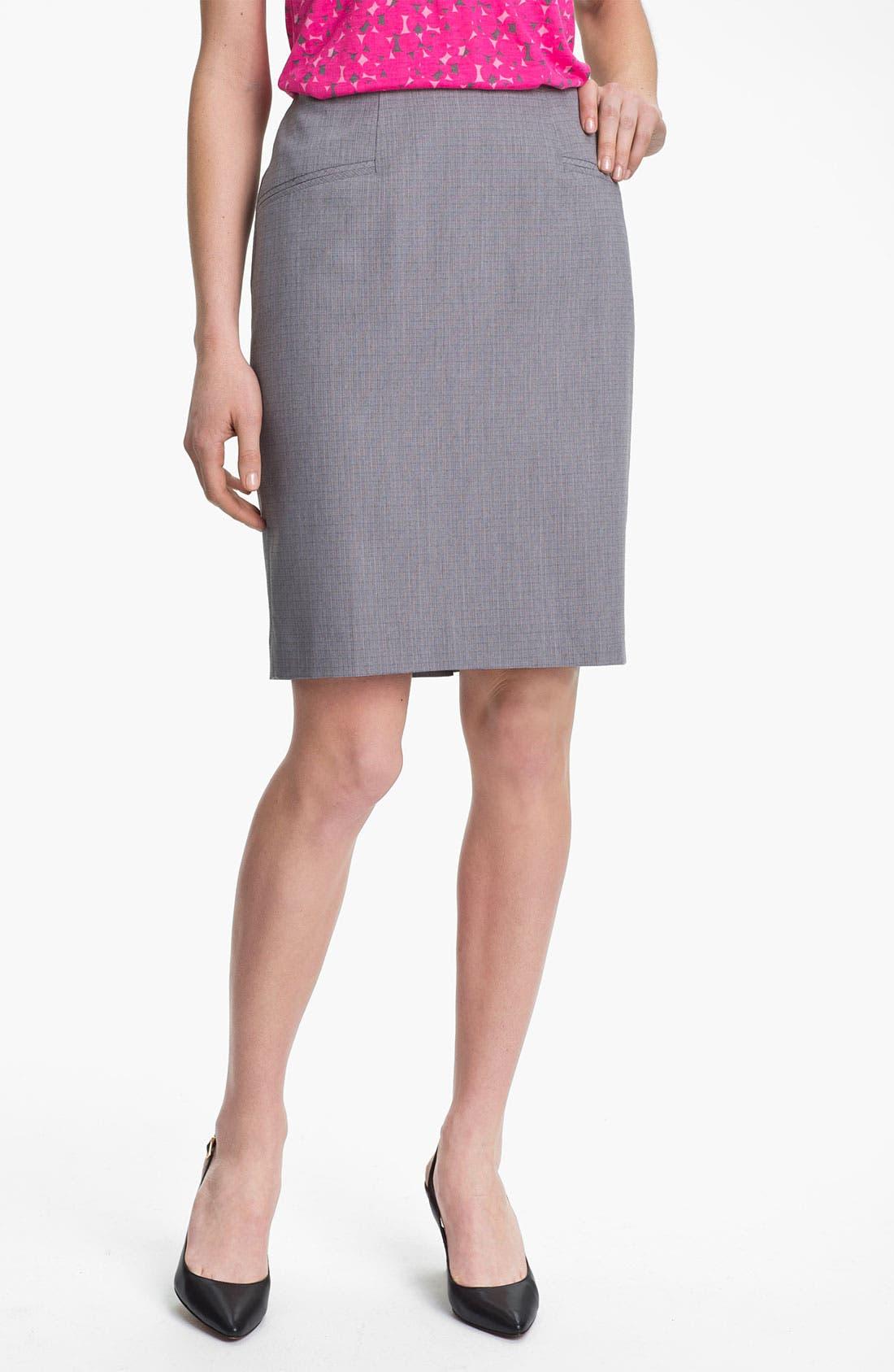 Alternate Image 1 Selected - Halogen® Tonal Texture Suit Skirt