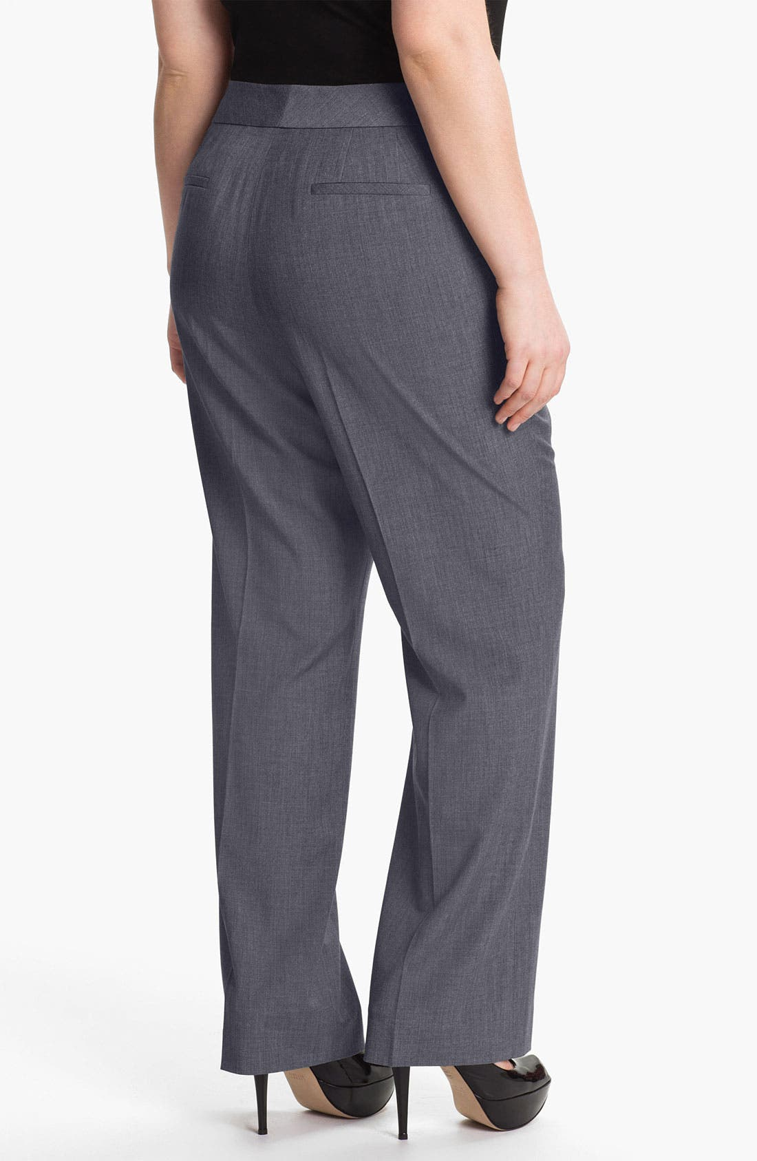Alternate Image 2  - Sejour 'Laurel' Twill Suit Trousers (Plus Size)