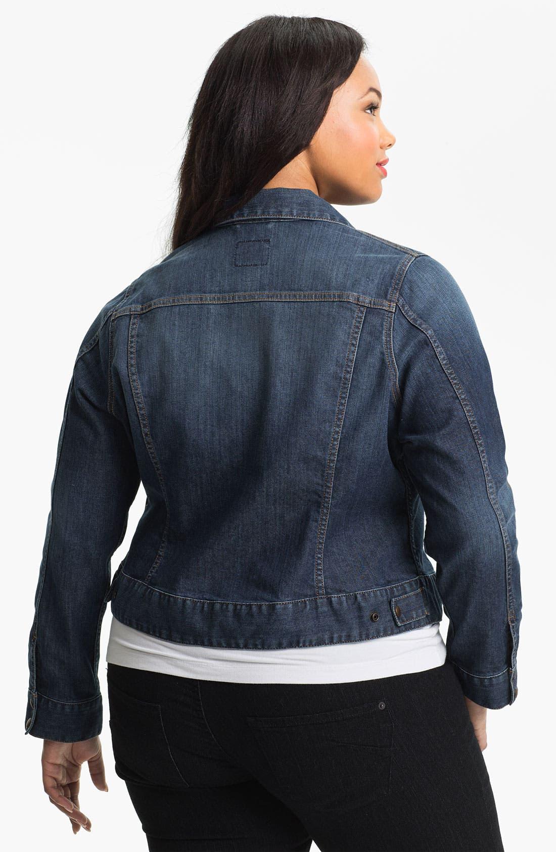 Alternate Image 2  - Lucky Brand 'Adelaide' Denim Jacket (Plus Size)