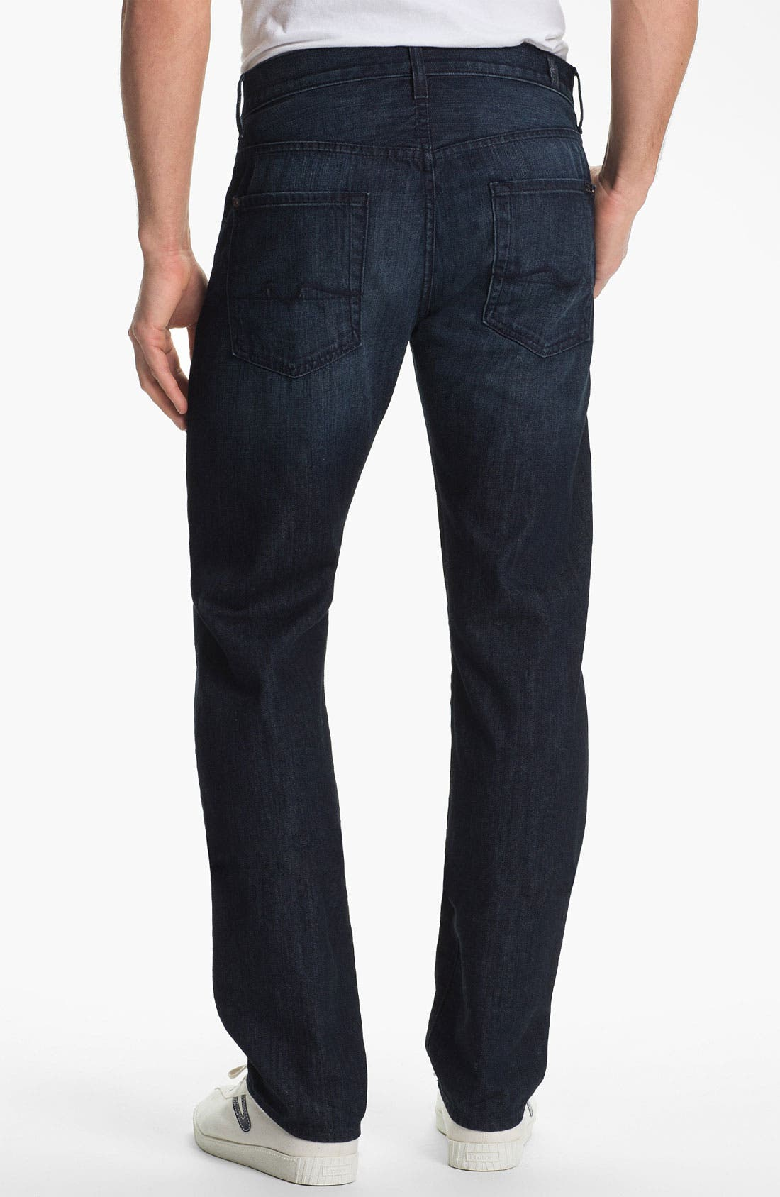 Main Image - 7 For All Mankind® 'Slimmy' Slim Straight Leg Jeans (Manhattan Bay)