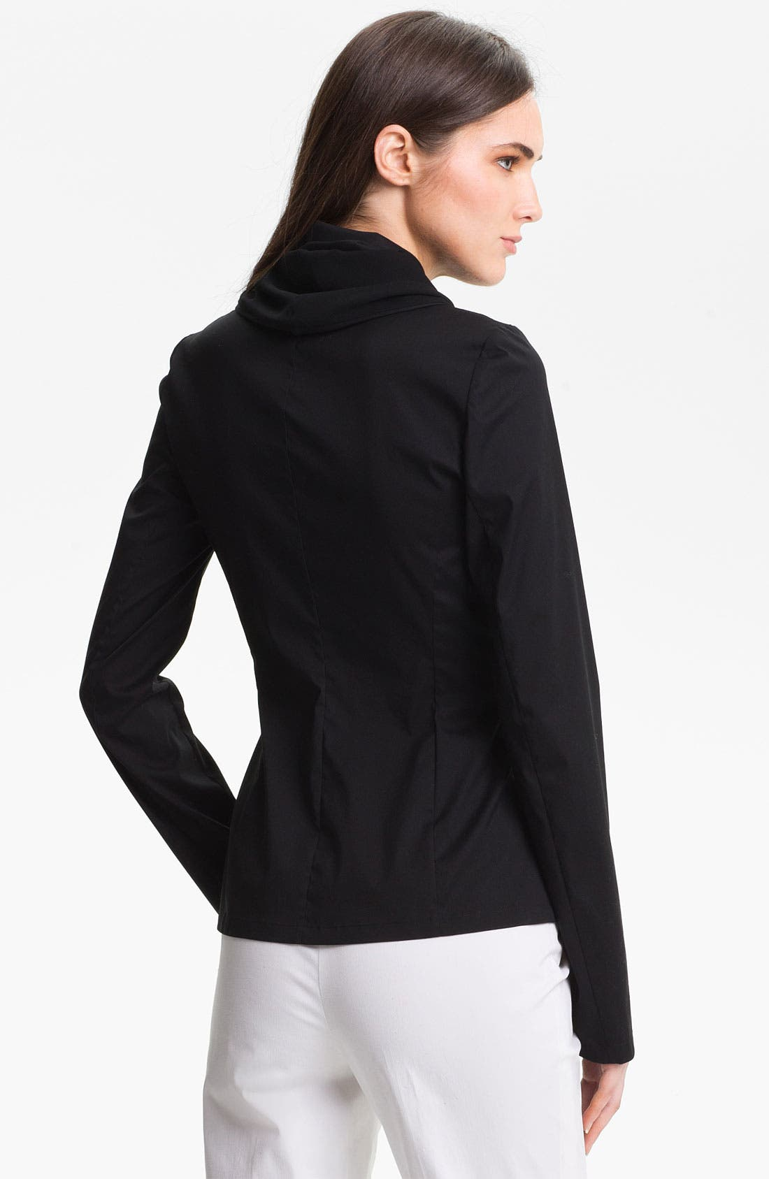 Alternate Image 2  - Lafayette 148 New York 'Bethany' Italian Stretch Cotton Blend Jacket